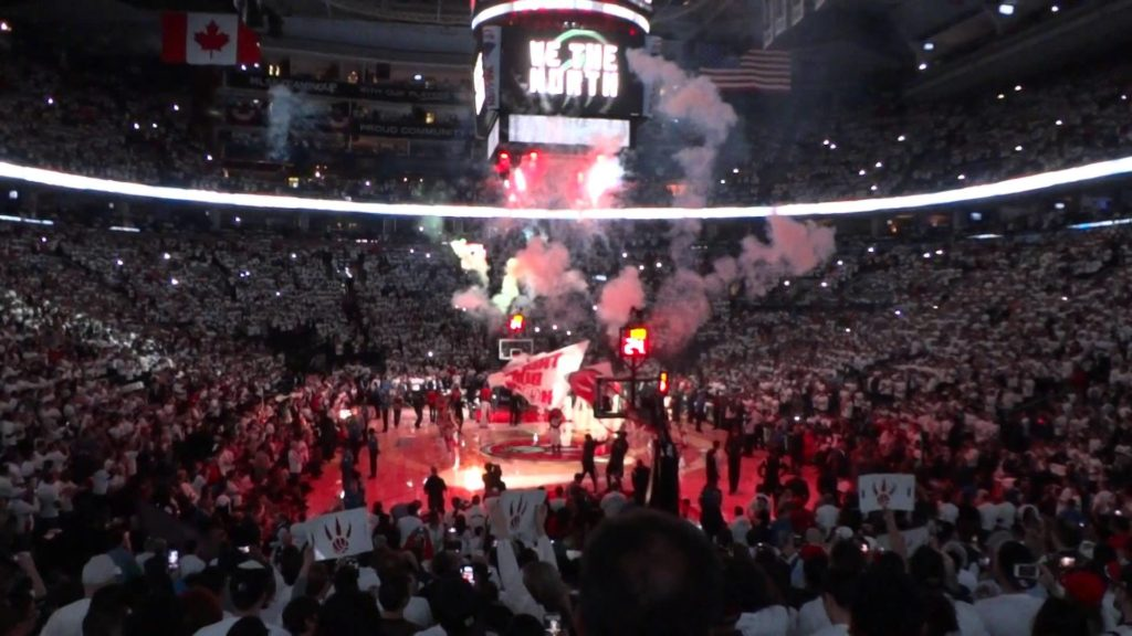 Playoff Atmosphere: Toronto Raptors Game 5 Player Introduction – YouTube