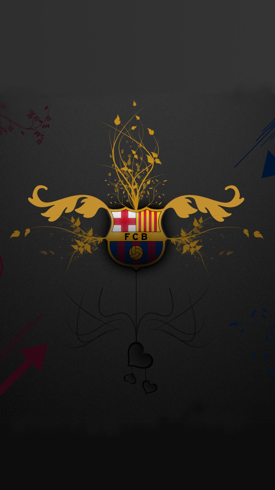 File attachment for Artistic FC Barcelona Logo of Apple iPhone 6s Plus  Wallpaper