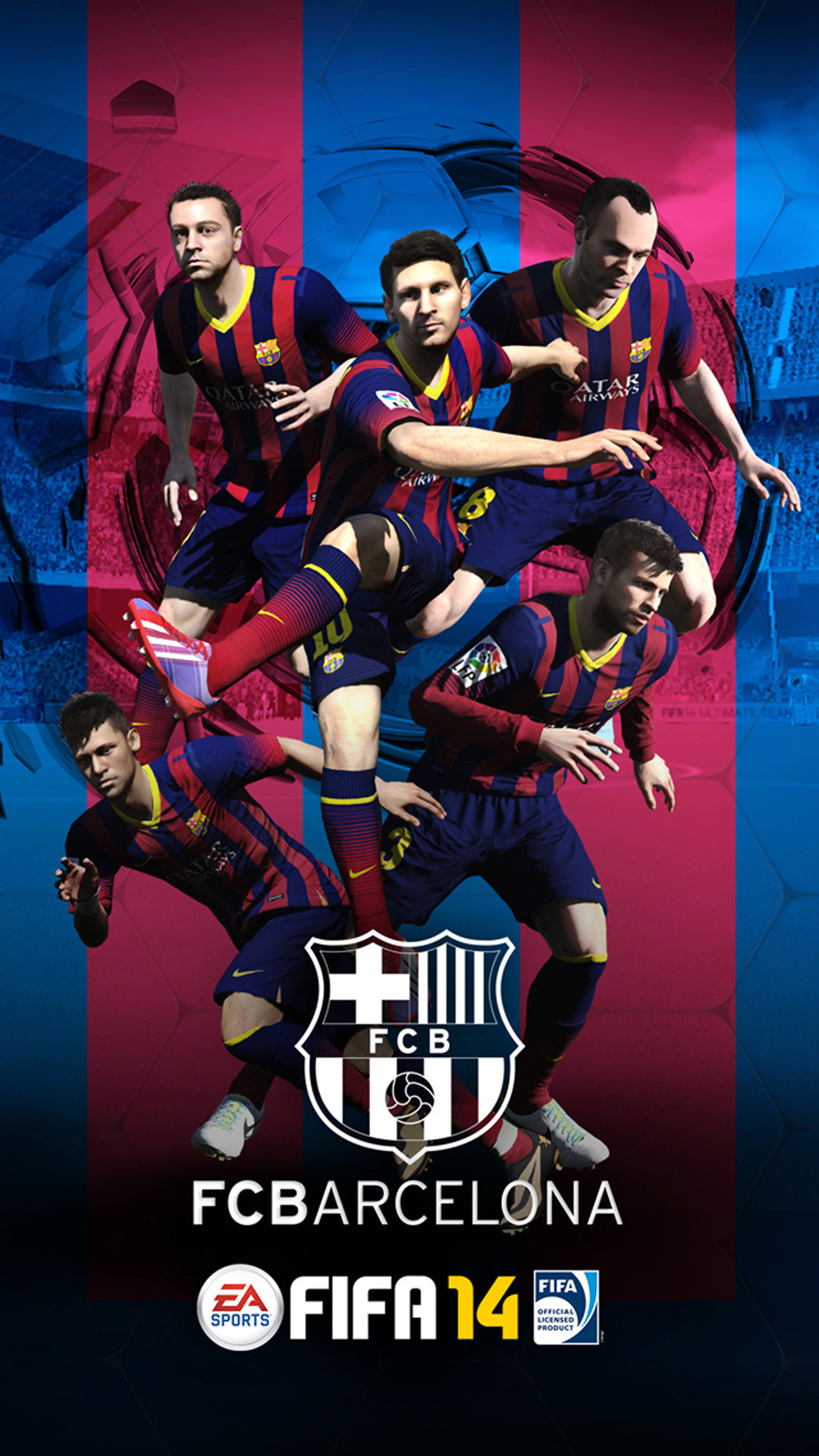 iPhone 6 plus FIFA 14 Barcelona HD Wallpaper