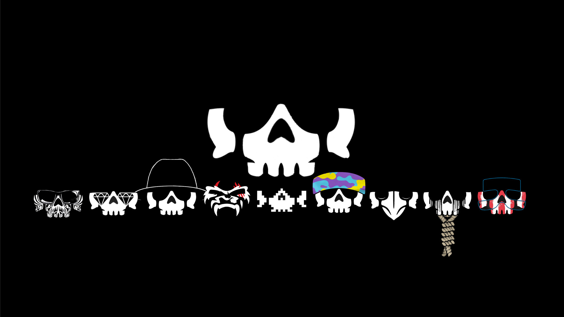 Inspired by /u/BoomanShames' minimalist Bullet Club poster, here's the  entire Club.