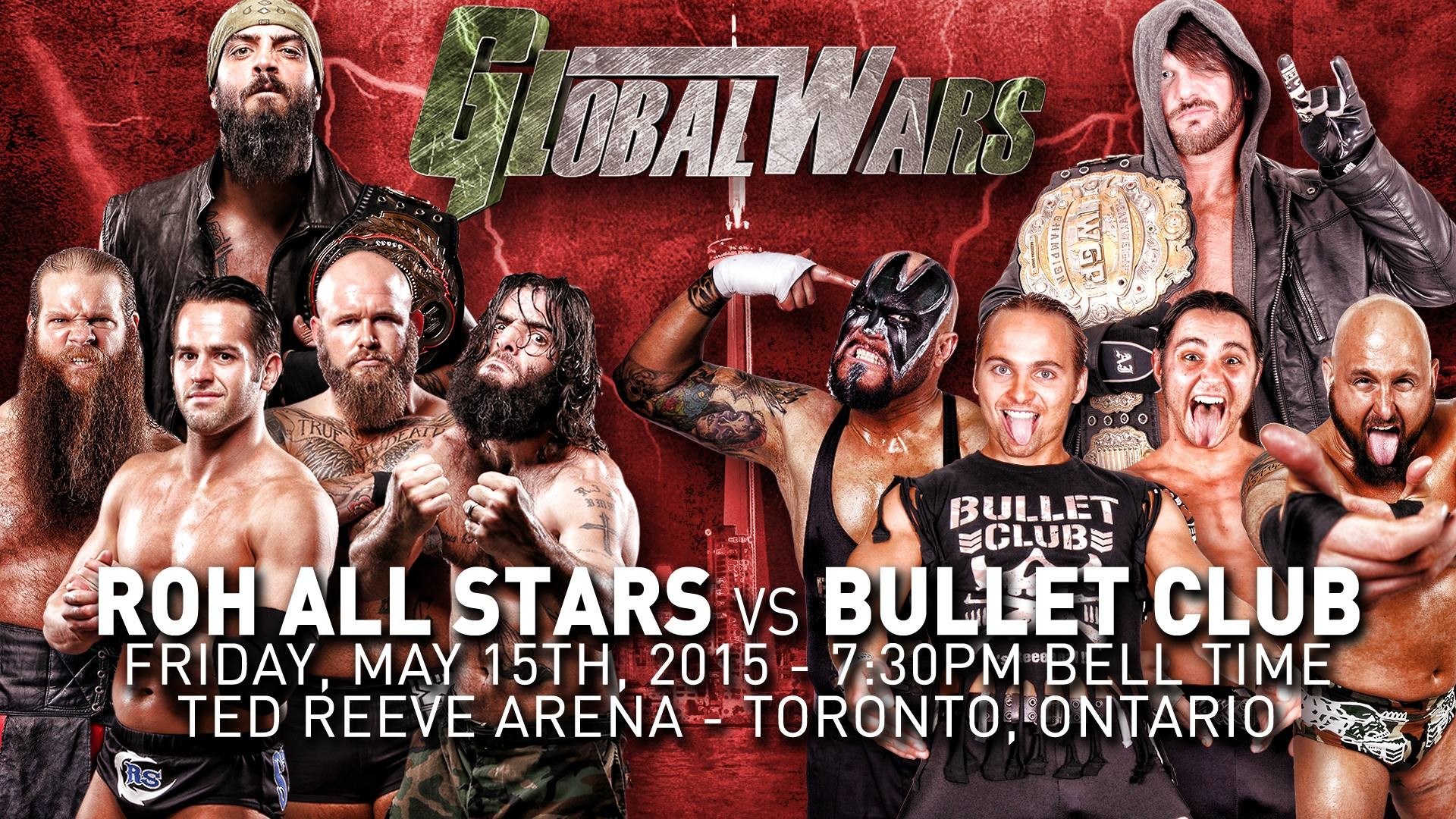 Ring of Honor's Global Wars Night 1 on iPPV, headlined by Bullet Club vs.  ROH All Stars – Between The Ropes