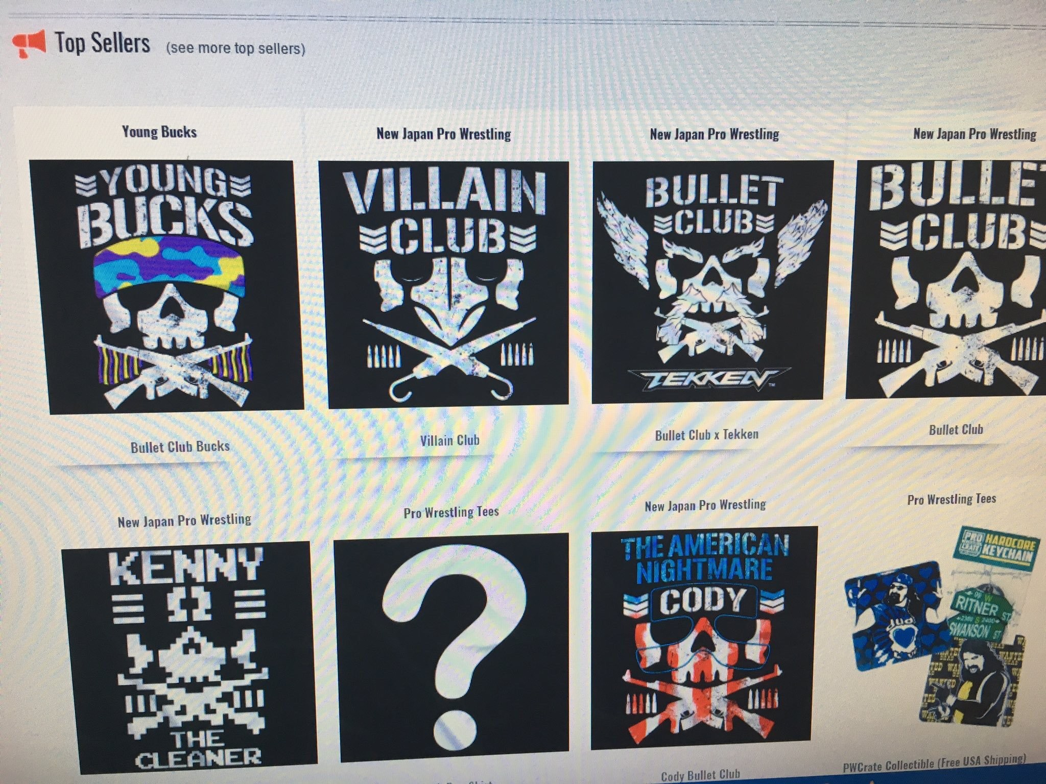 """Marty Scurll on Twitter: """"The top selling shirts on @ProWrestlerTees.  Notice an occurring theme? Yes. Why? Because we're making wrestling cool  again."""