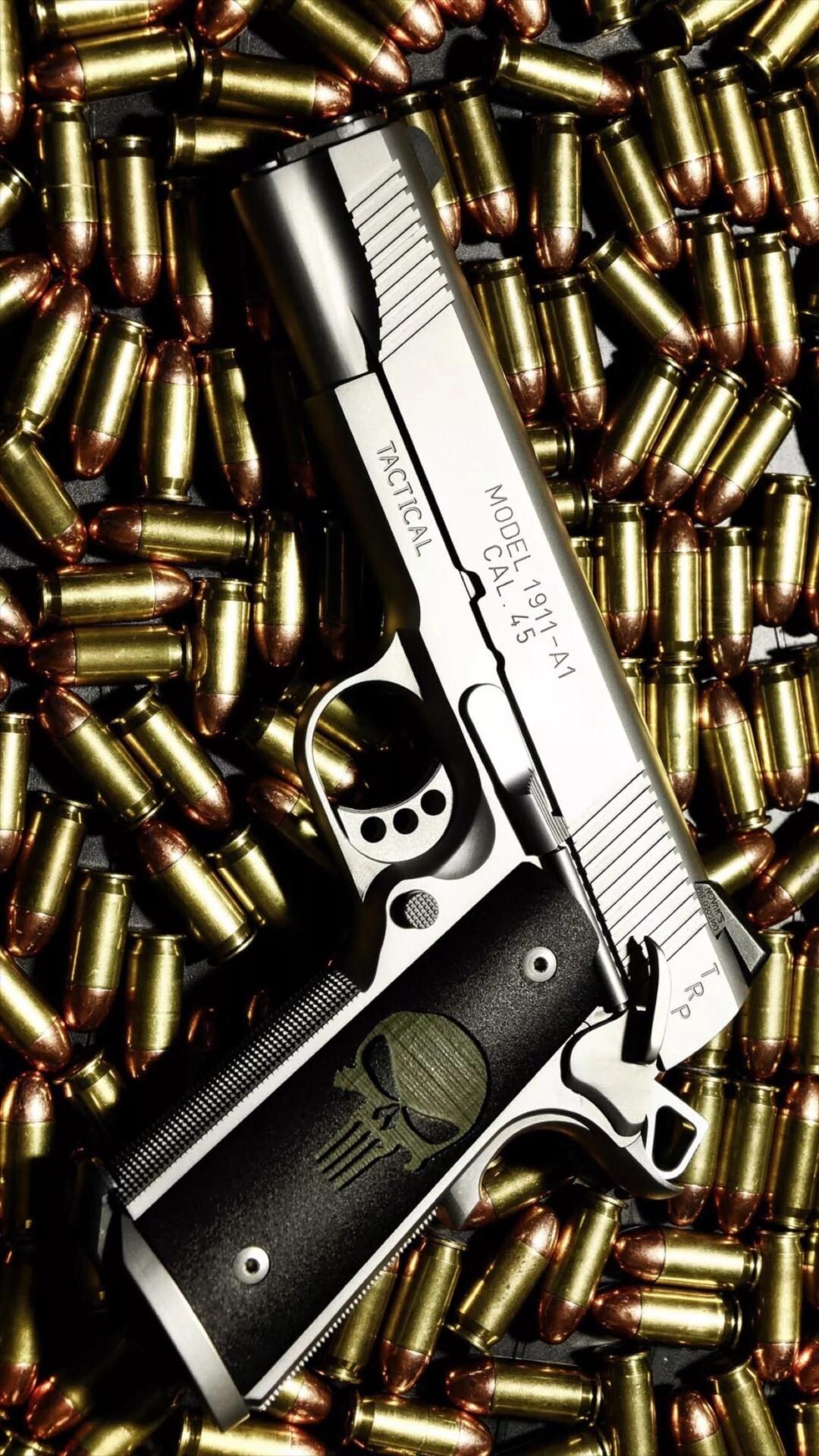 Bullet Stack Gun Weapon Military #iPhone #6 #wallpaper