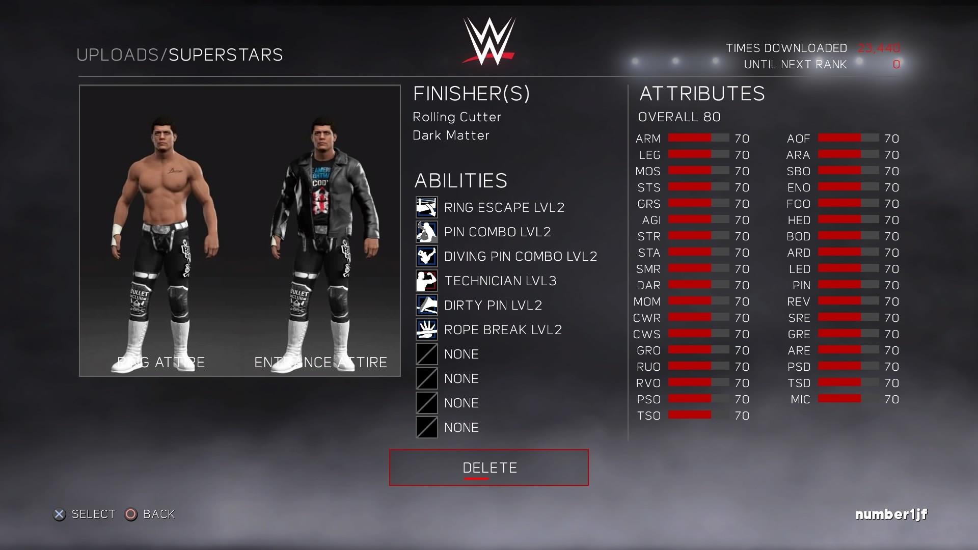 Custom Bullet Club Attire For Cody Rhodes: