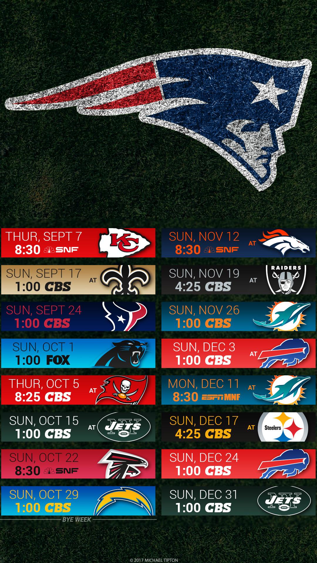 New England Patriots 2017 schedule turf logo wallpaper free iphone 5, 6, 7,  …