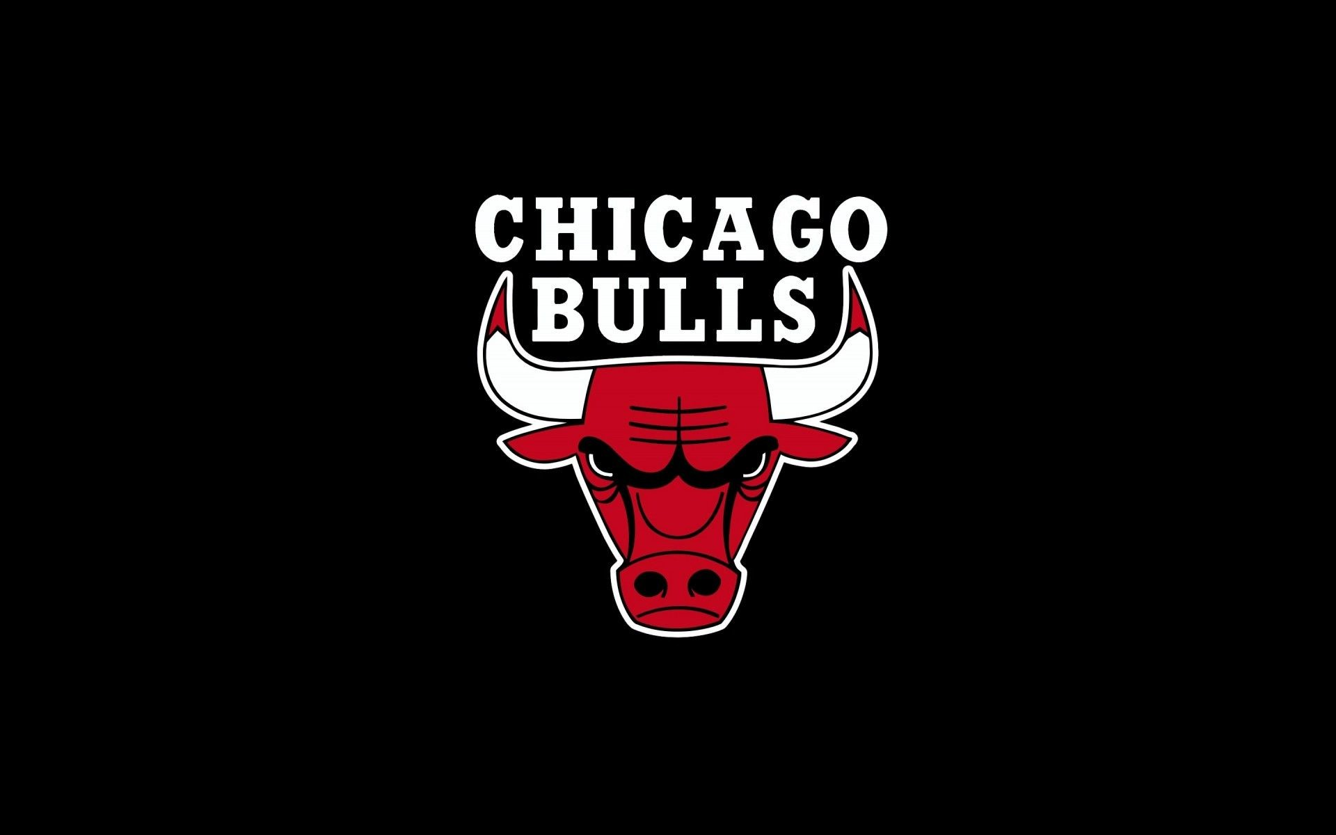 Chicago Bulls, nba, logo, sports, black background Image Wallpaper