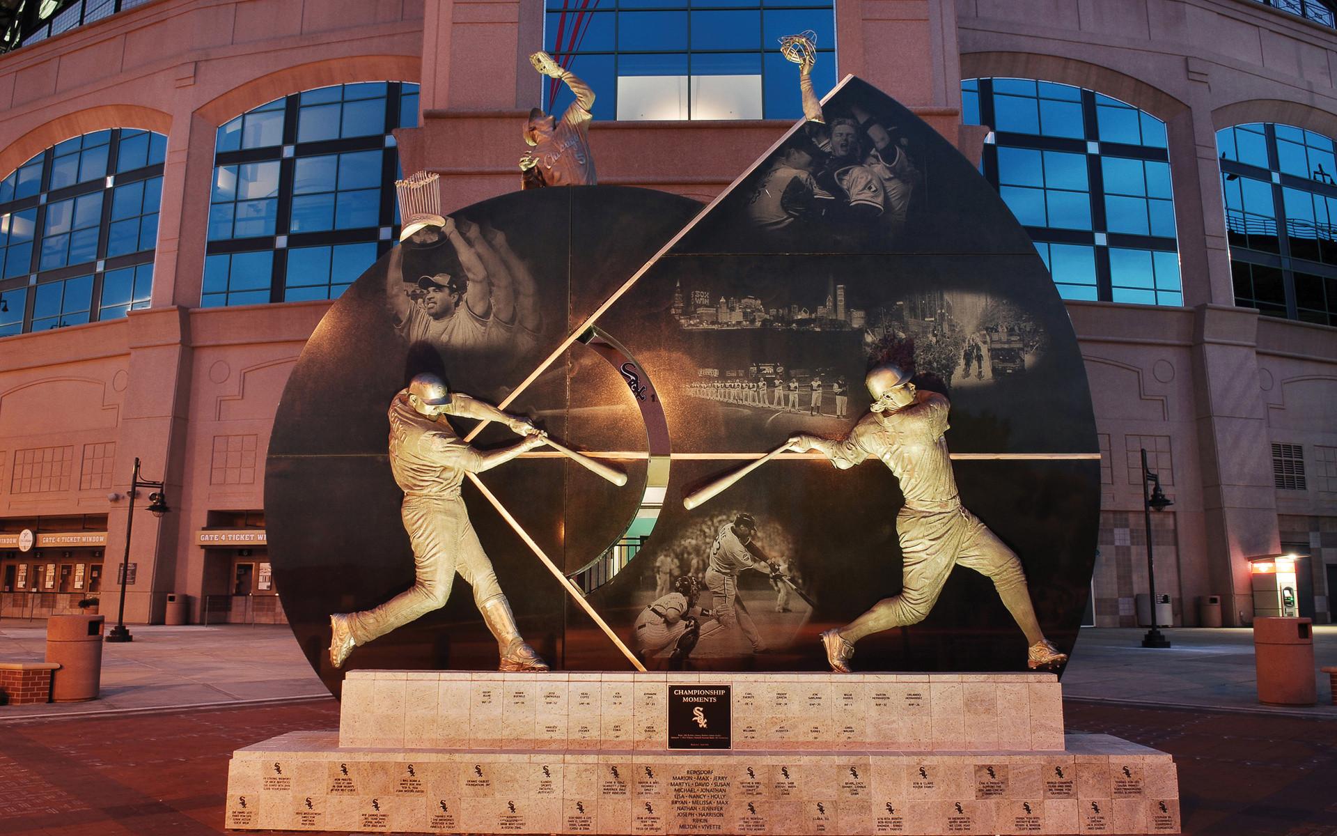 Mlb, Sports, Chicago White Sox Monument, Baseball, Chicago White Sox