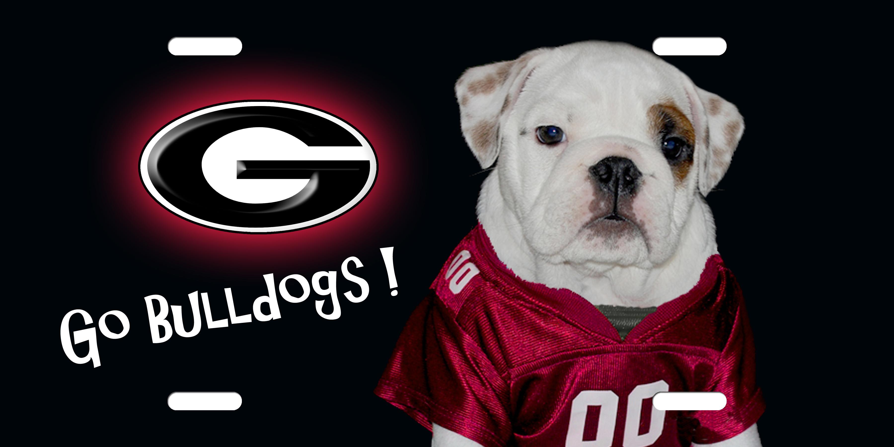 Georgia Bulldogs Camo Georgia bulldog license plate,
