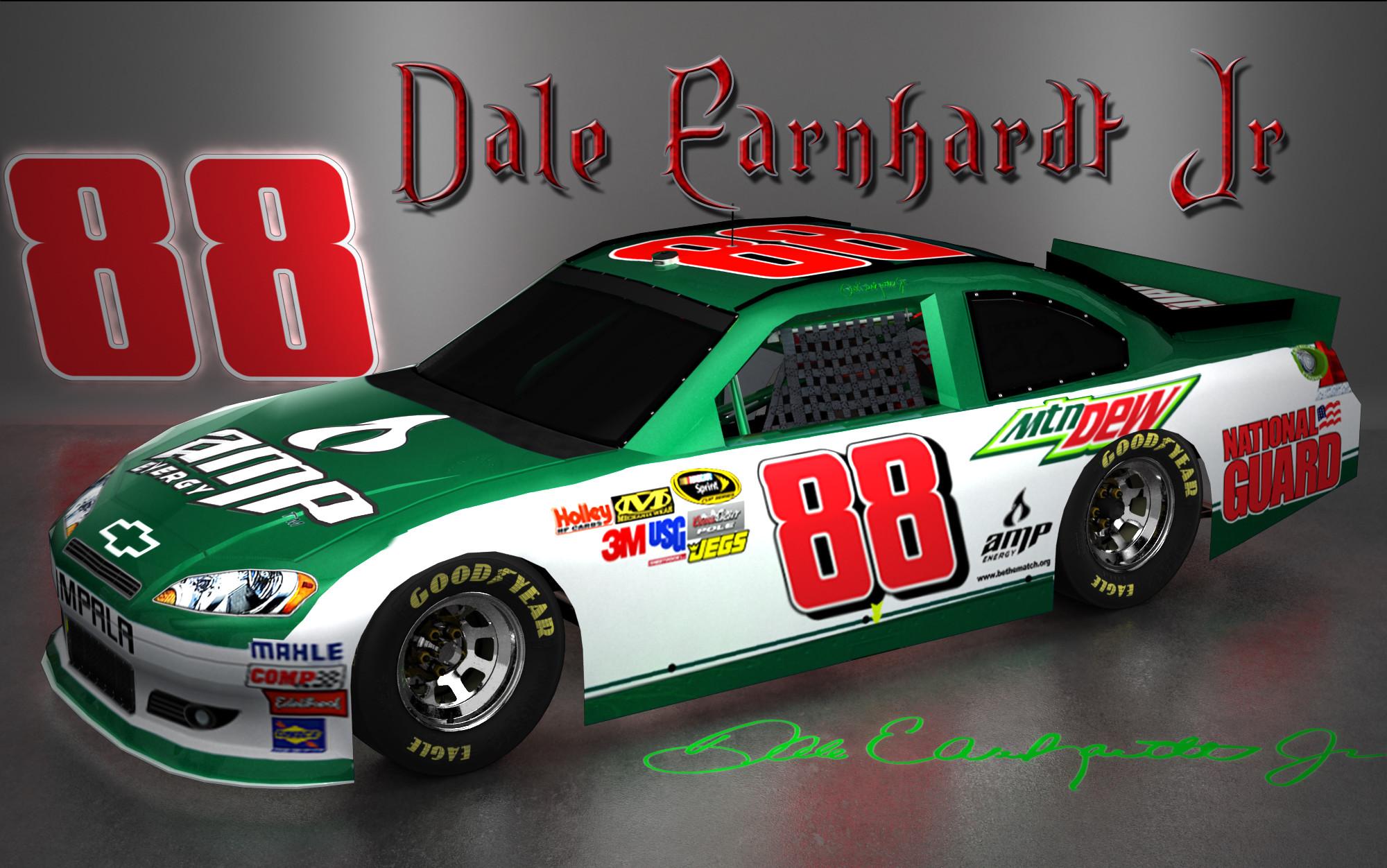Dale Earnhardt Jr NASCAR Signature Wallpaper
