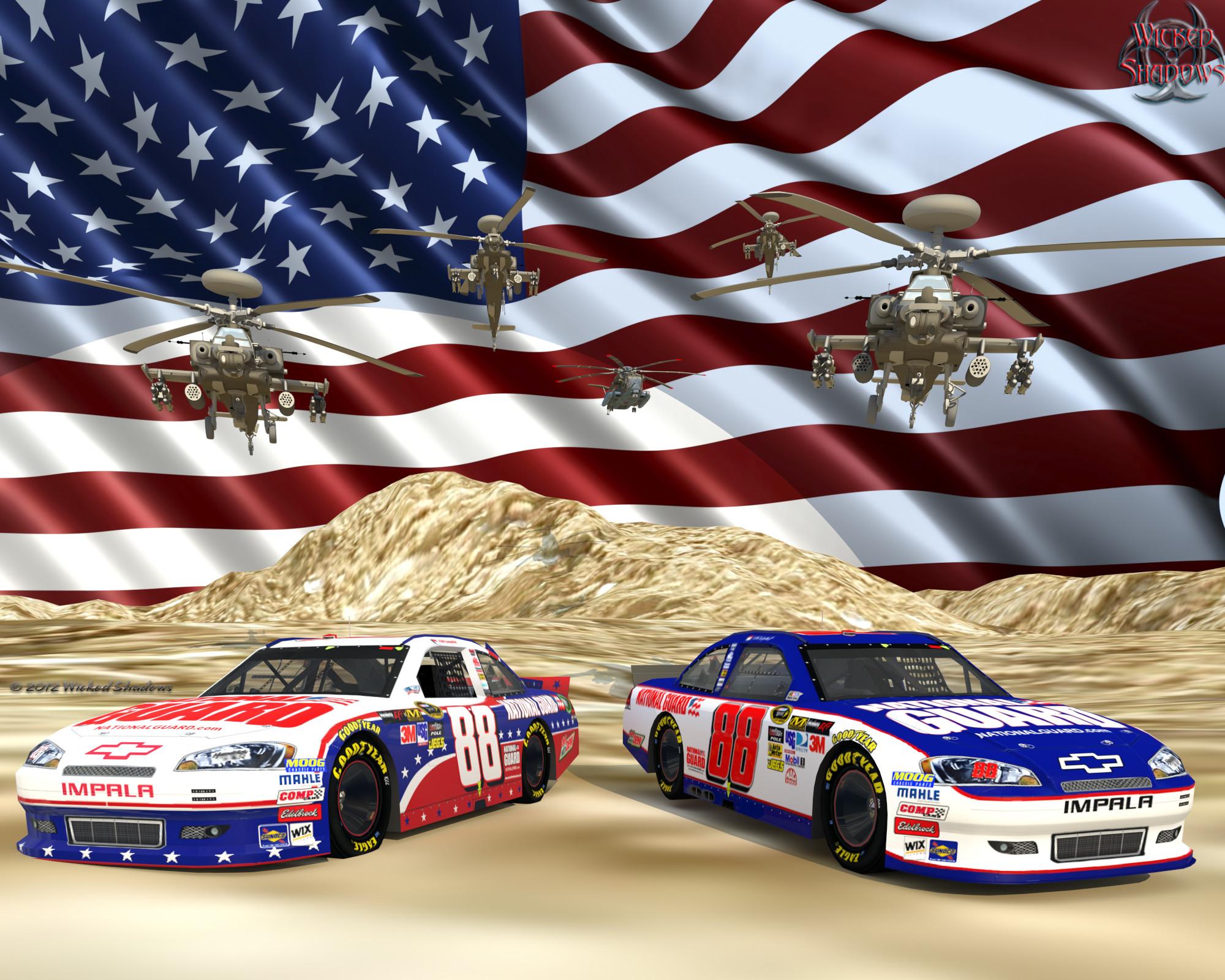 le Dale Earnhardt Jr. Nascar Unites National Guard Ver. 2 Wallpaper  Facebook Cover Photo | 4×3 | 5×4 …