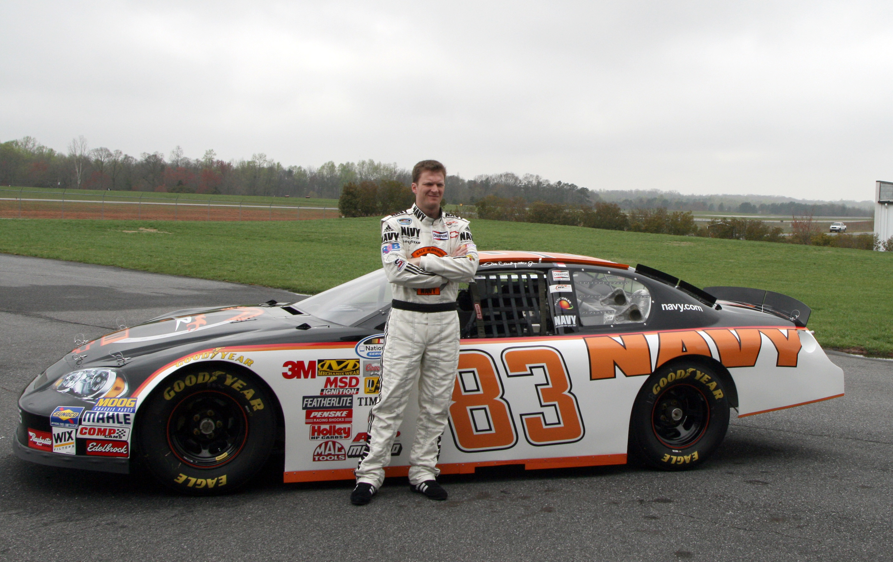 File:Dale Earnhardt Jr with Nationwide Series No 83 car.jpg
