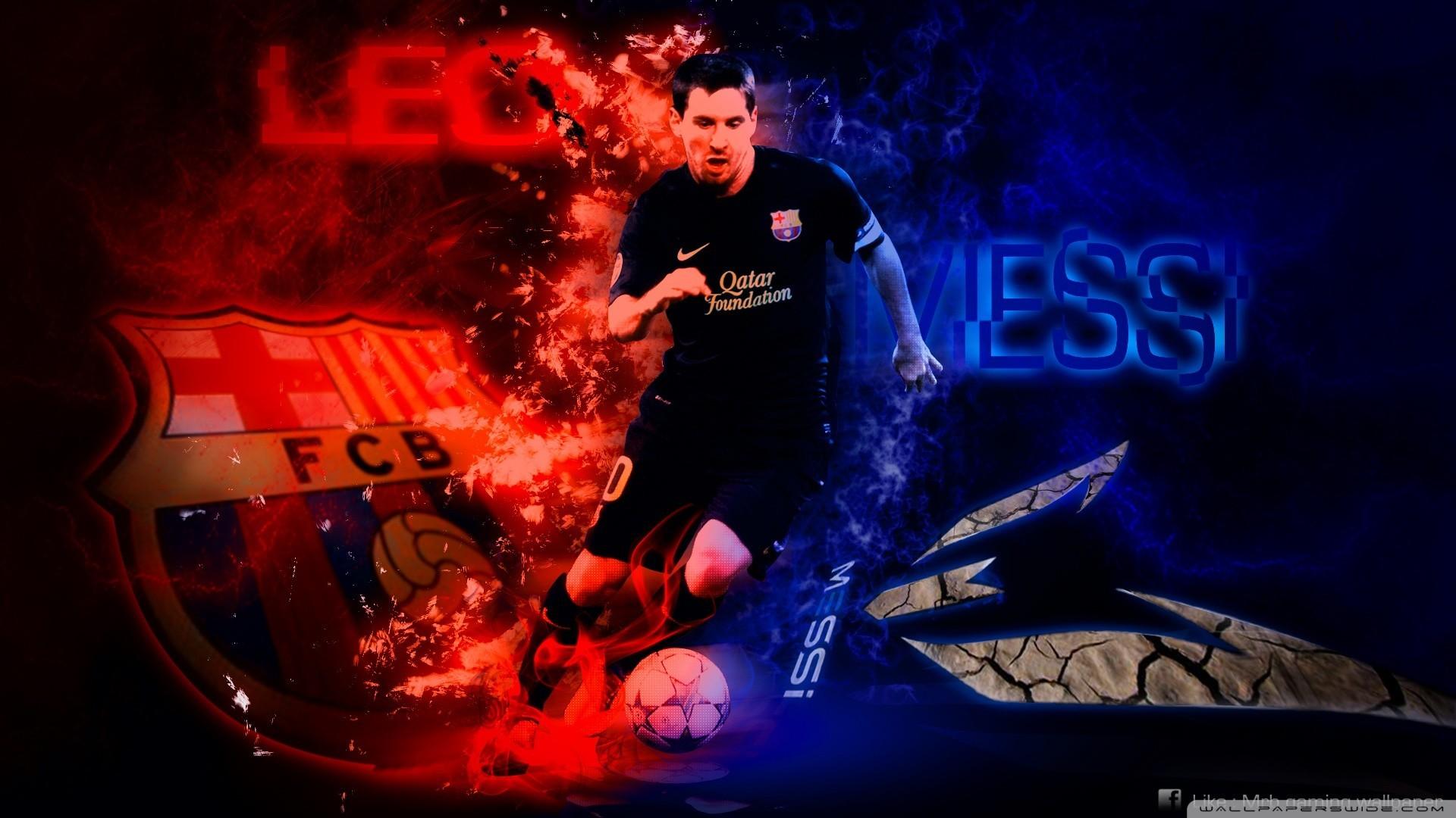 Beautiful Lionel Messi Back Wallpaper – FC Barcelona Wallpaper HD 2017 SJD7
