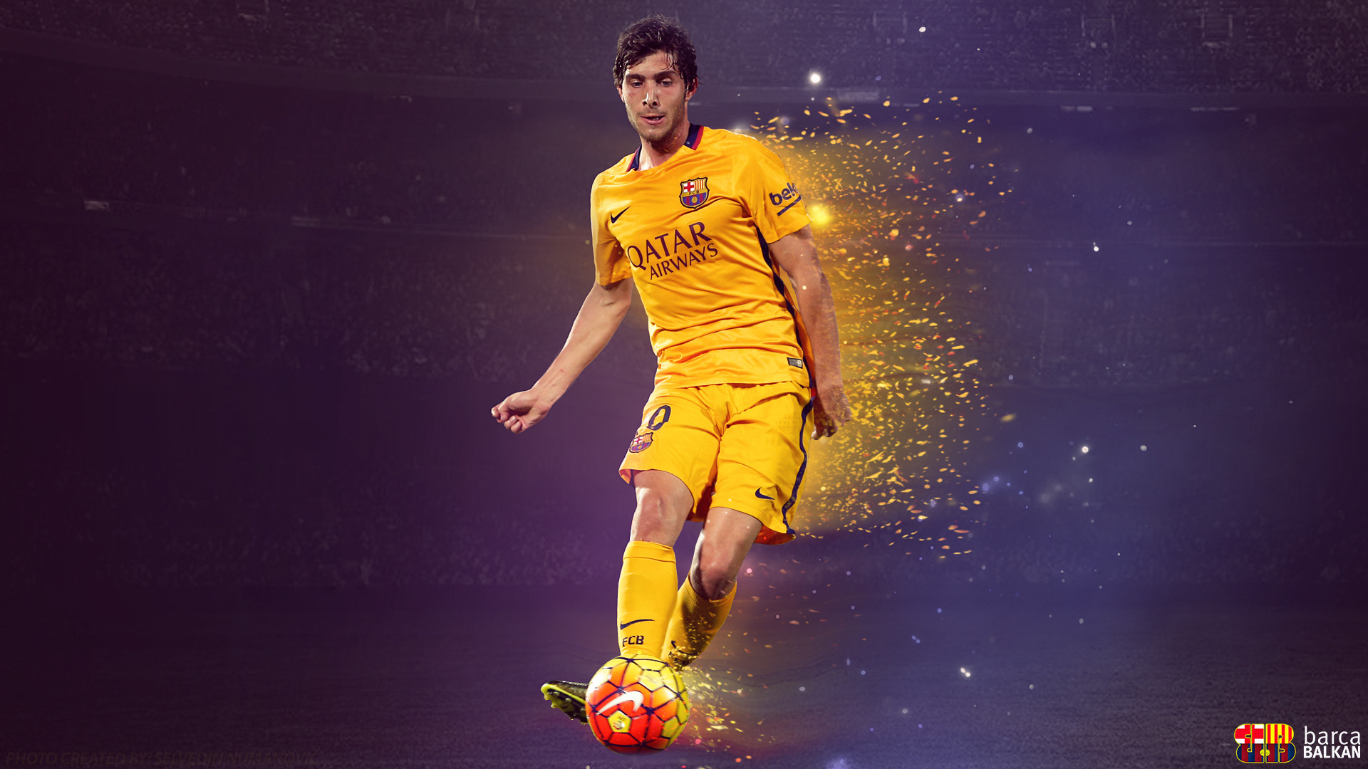 … Sergi Roberto – FC Barcelona WALLPAPER HD by SelvedinFCB