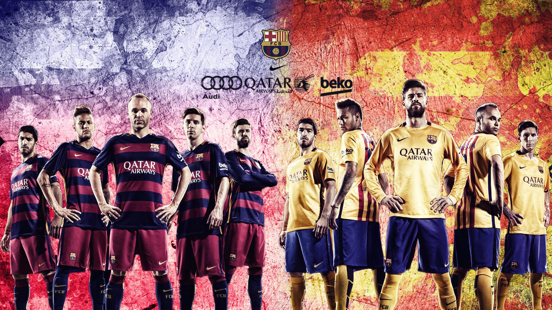 FC Barcelona 2015/2016 Wallpaper by RakaGFX on DeviantArt