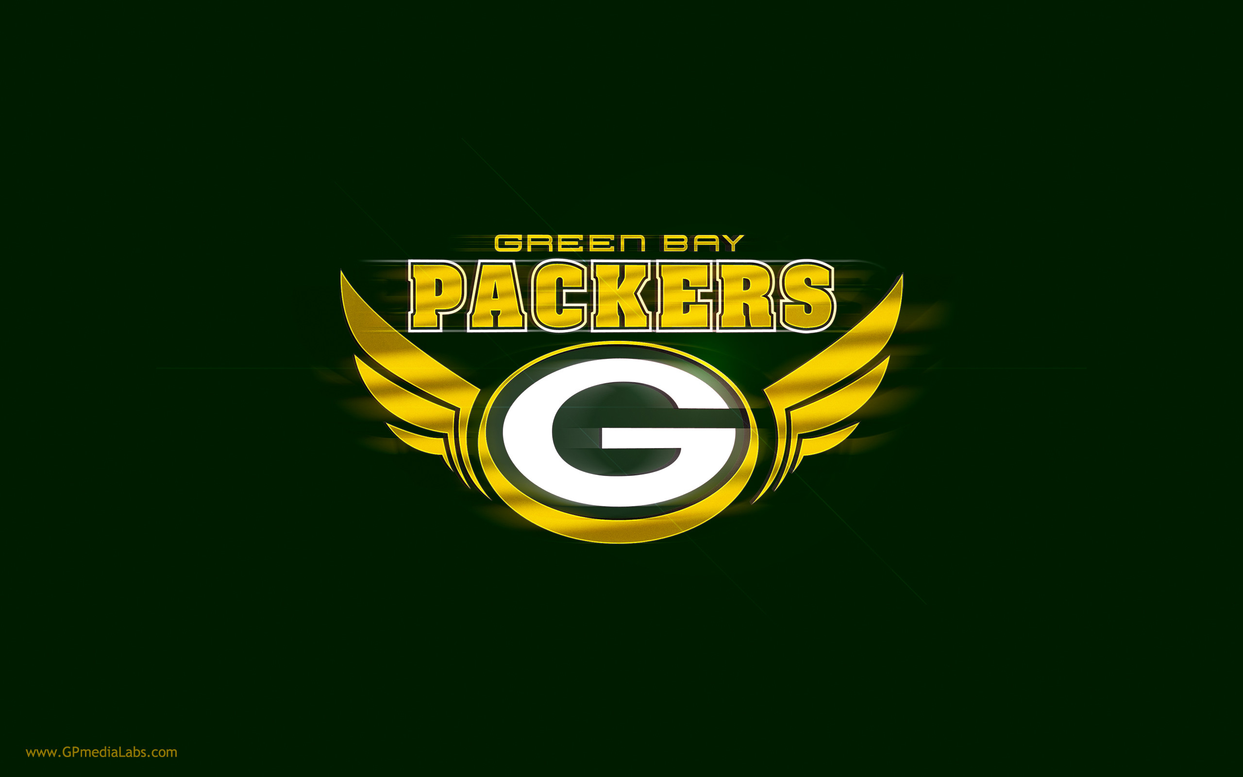 Green Bay Packers Wallpaper – G Logo with Wings