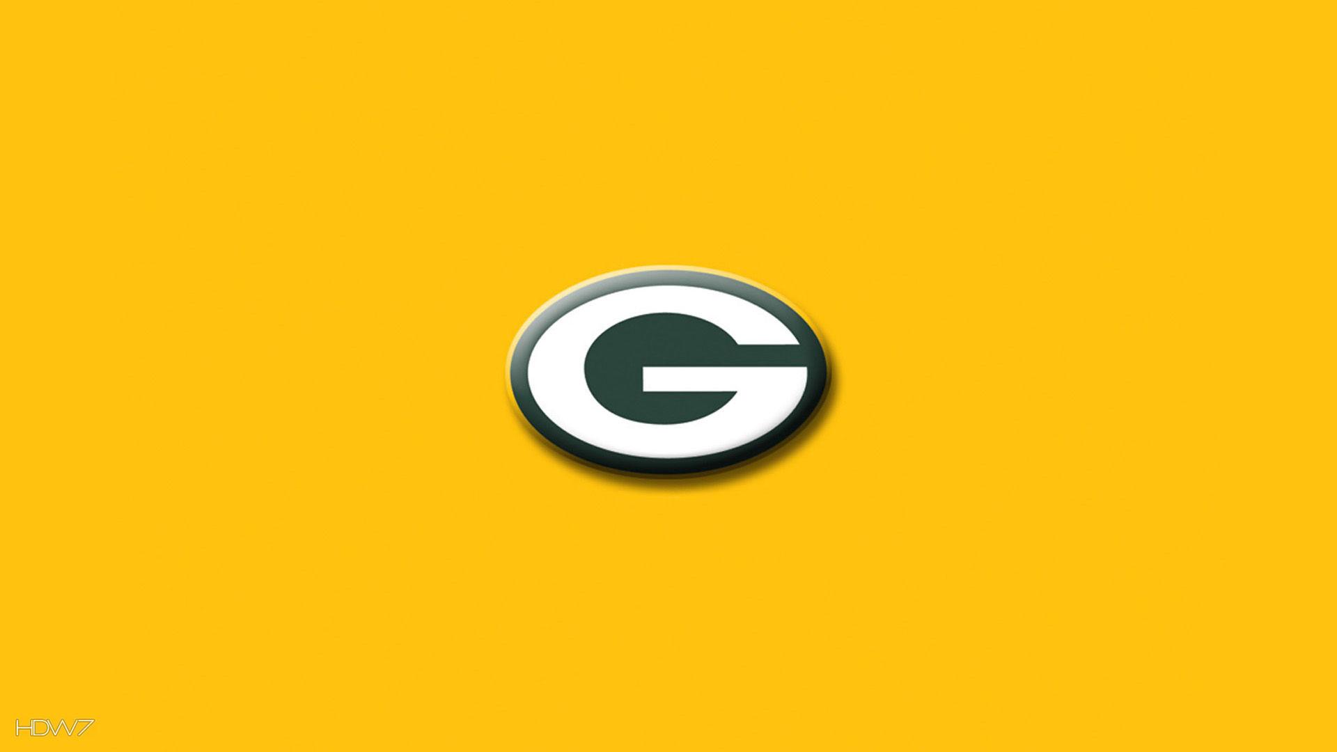 green bay packers simple logo yellow wallpaper
