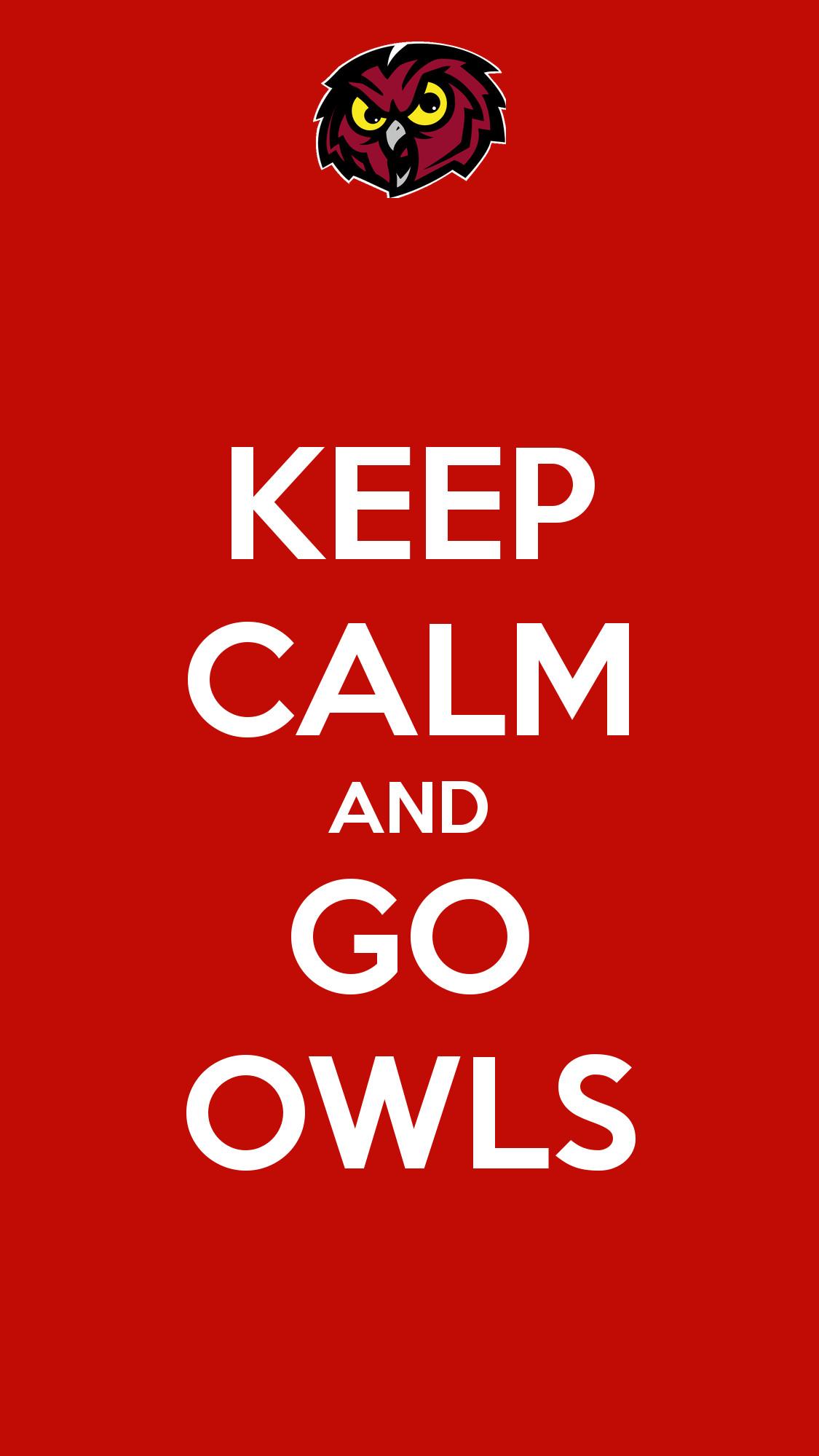 Go Owls iPhone Wallpaper – Temple Owls