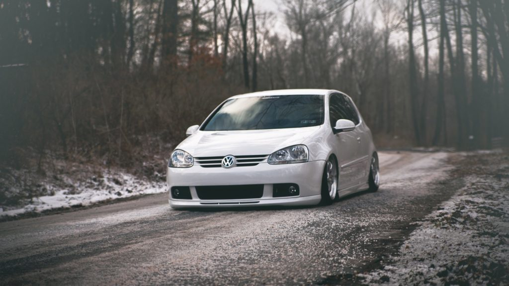 Preview wallpaper volkswagen, golf, gti, tuning, white 1920×1080