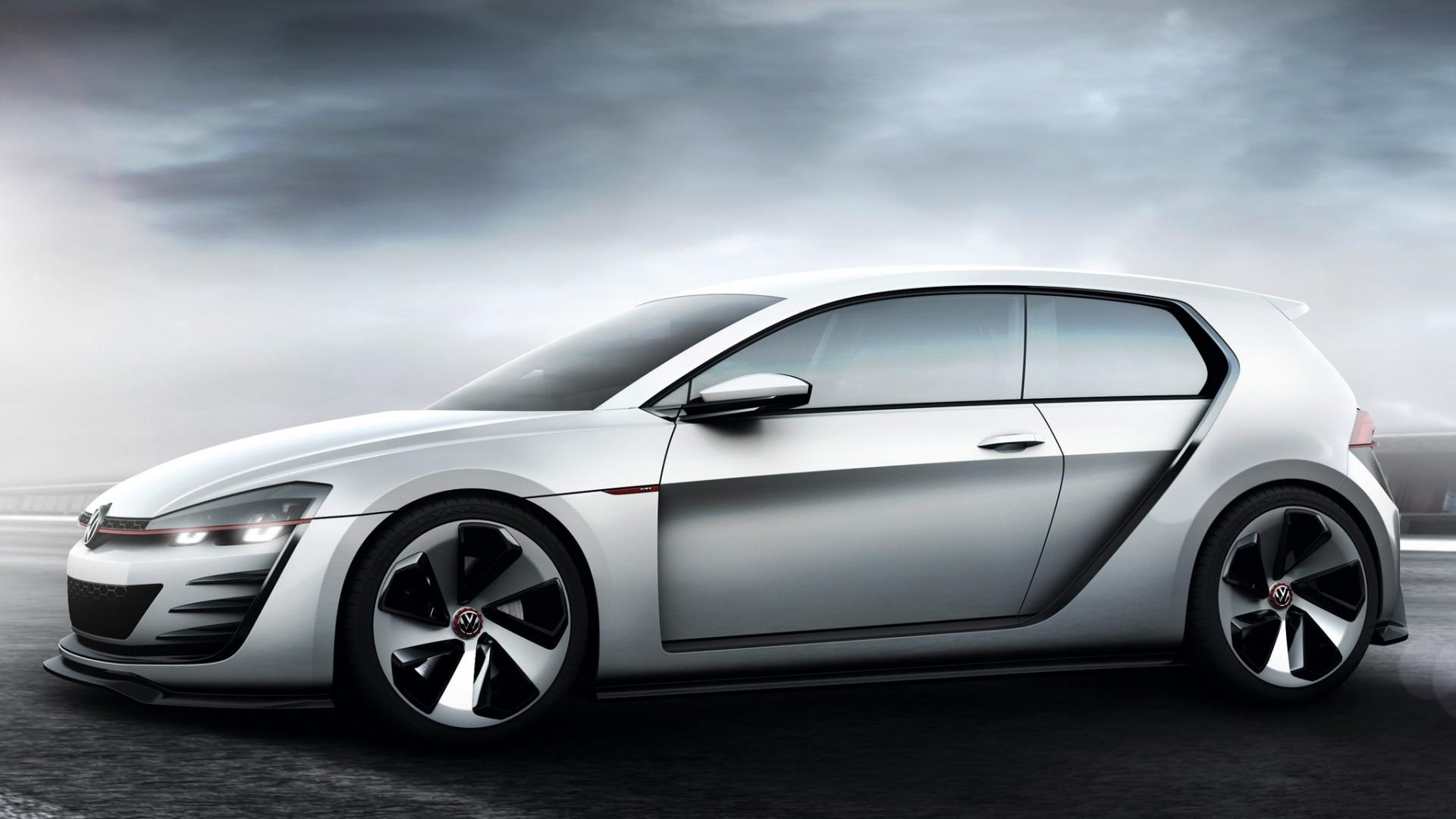 Preview wallpaper volkswagen, golf, design vision, concept, gray, gti  1920×1080