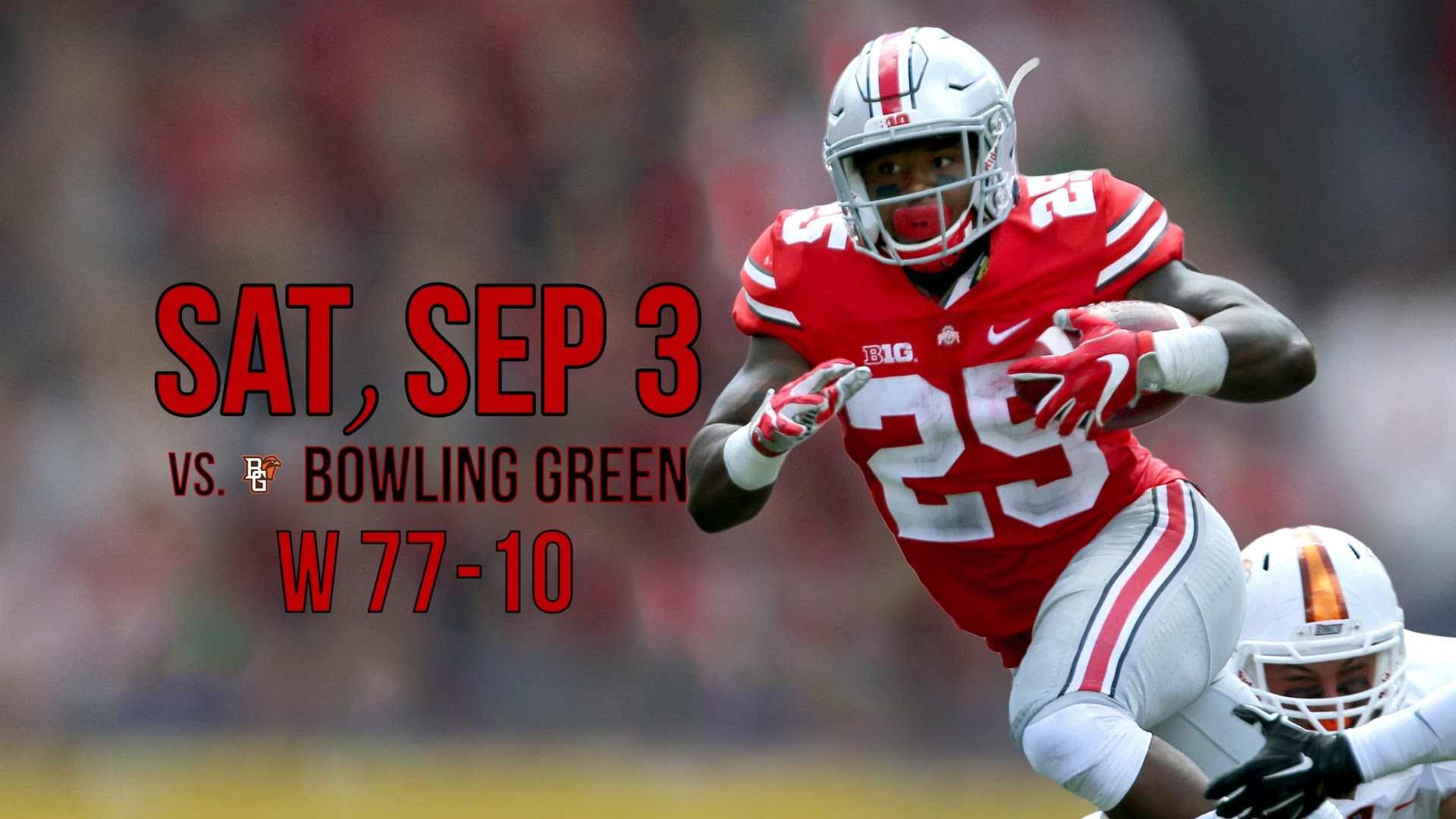 2016 Ohio State Buckeyes – Schedule & Scores (as of 9-12-16)