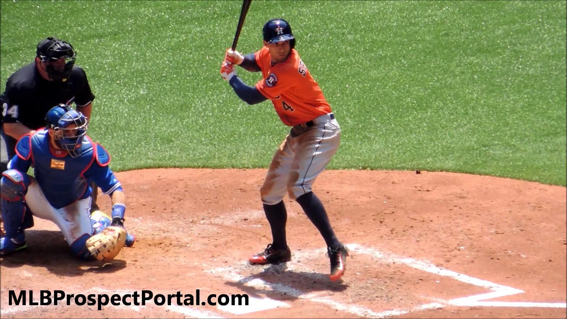 George Springer base hit – Houston Astros OF