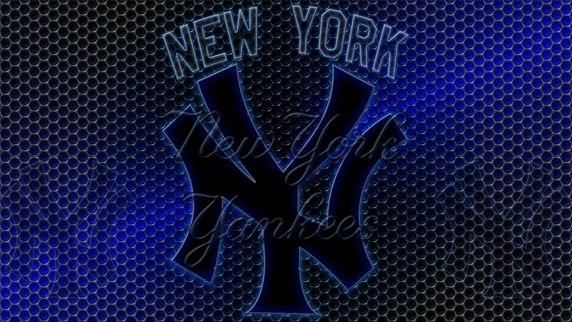 New York Yankees Logo Grid Wallpaper   Free Download Wallpaper .