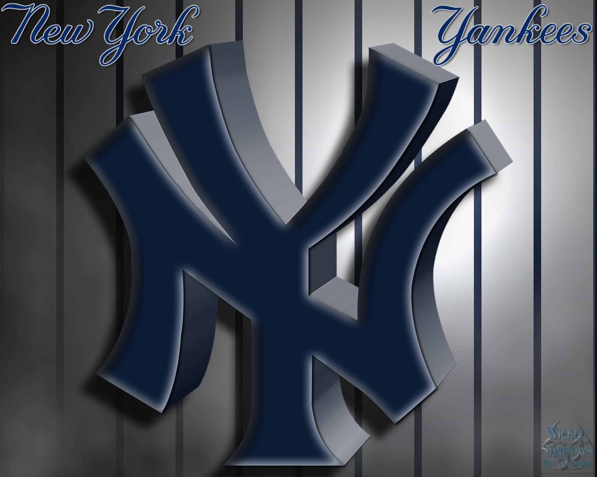 New York Yankees 3D Logo Wallpaper   Free Download Wallpaper .
