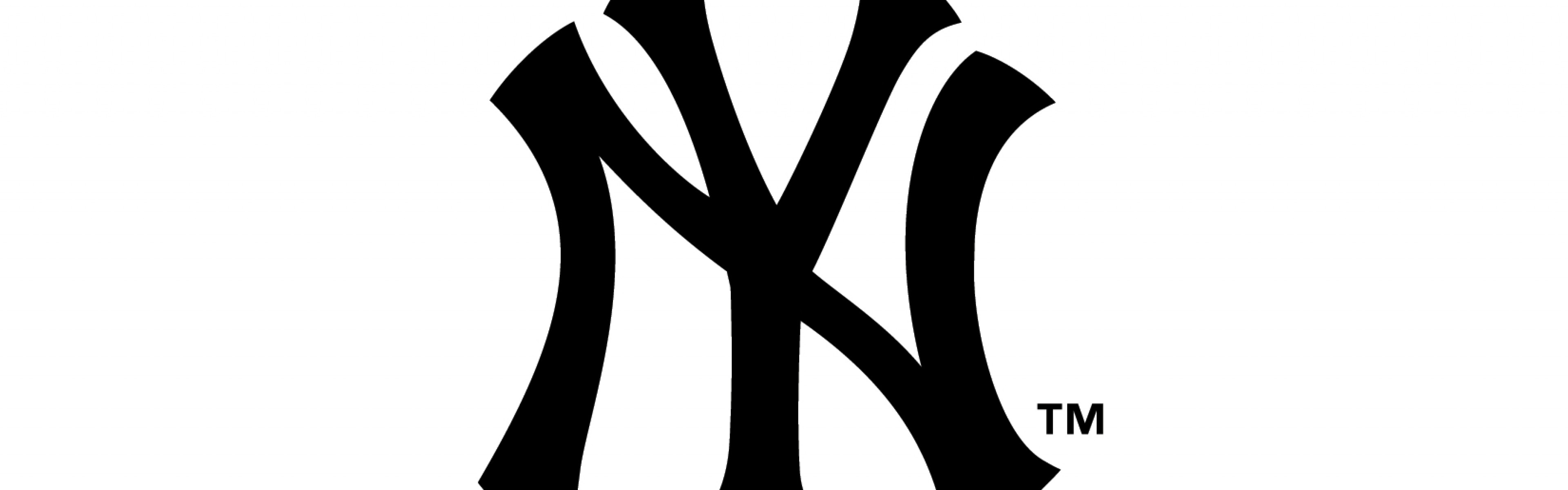 new york yankees, logo, famous brand Dual Wide HD Background