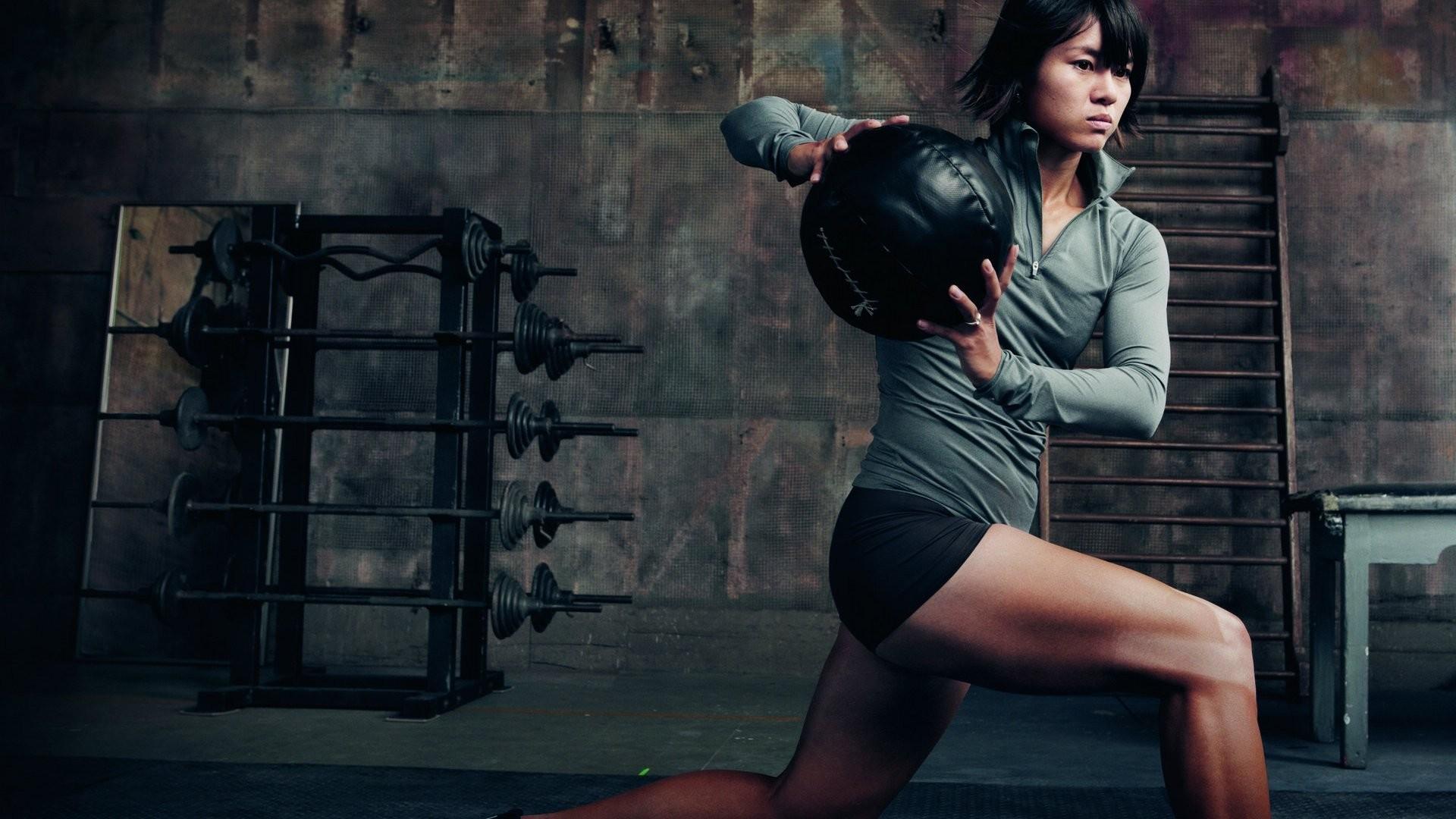 Girl Fitness Sport Gym HD desktop wallpaper : Widescreen
