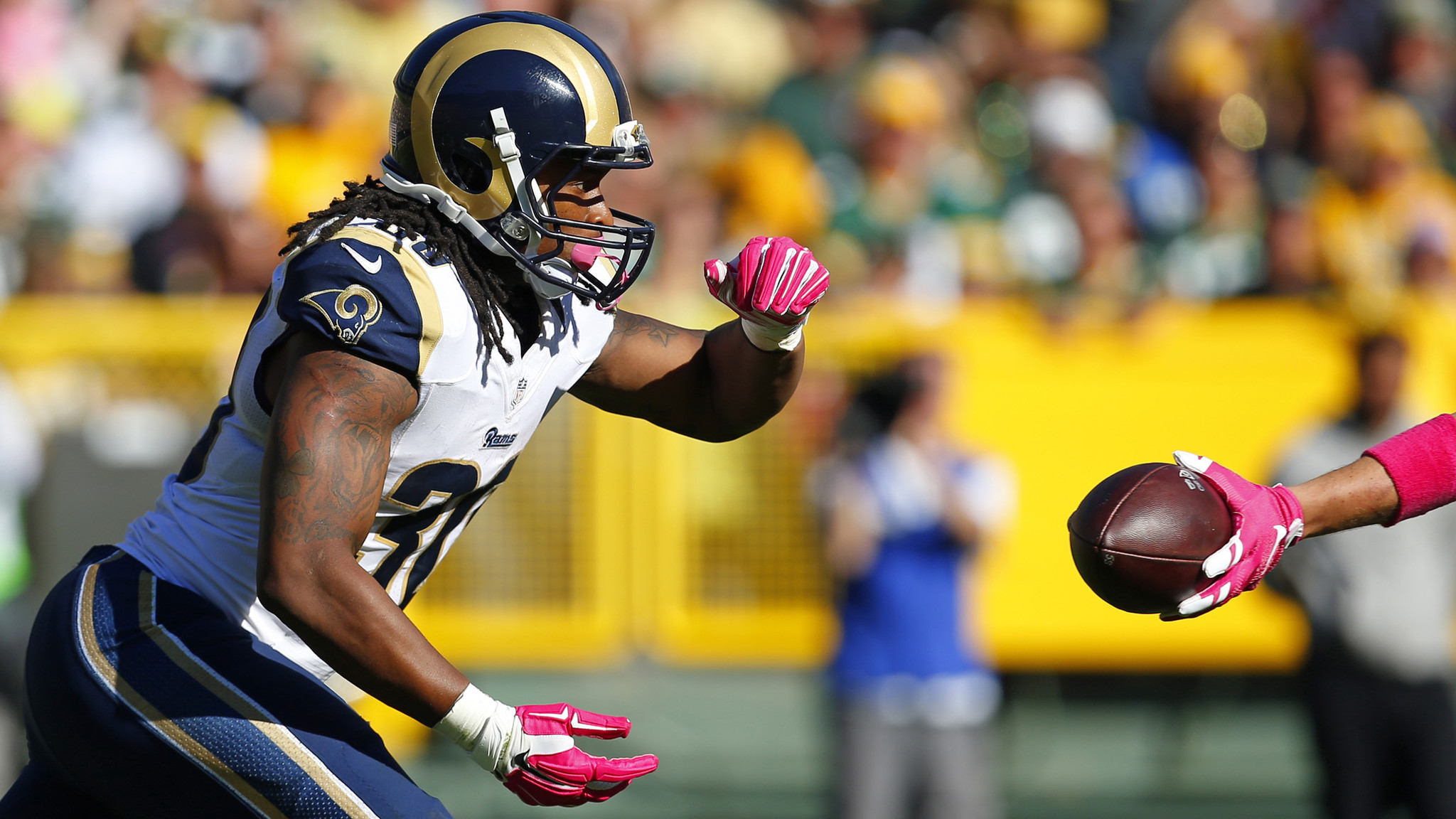 Rookie Todd Gurley shows St. Louis Rams he was worthy of No. 10 pick – LA  Times