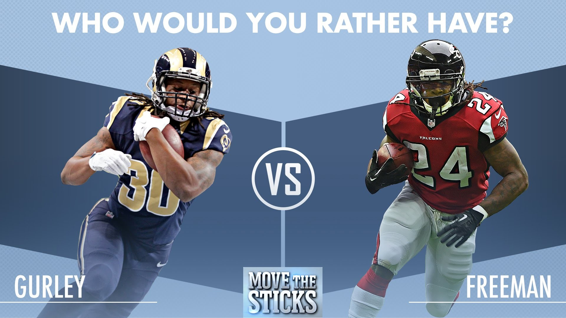Who Would You Rather Have: Todd Gurley or Devonta Freeman?   Move the  Sticks   NFL – YouTube