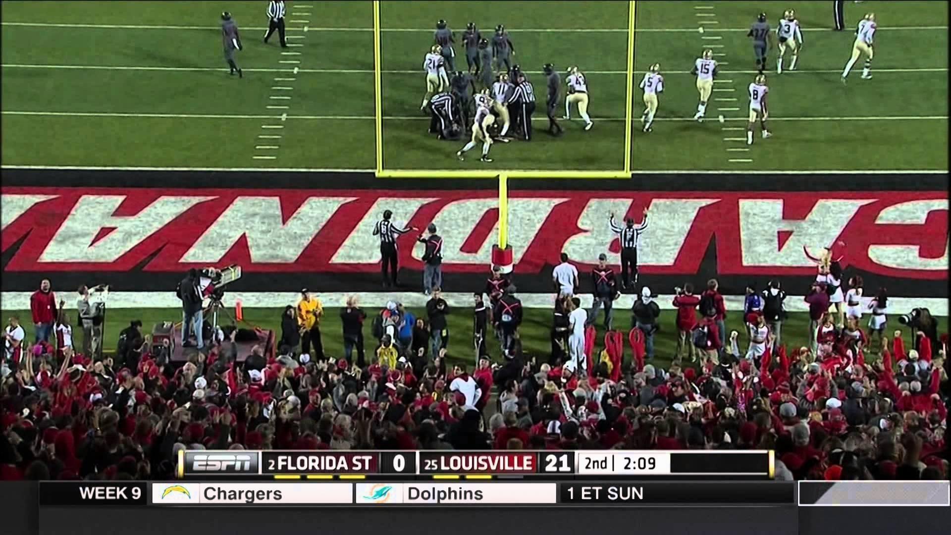 Florida State Seminoles at Louisville Cardinals 2014 Full Game cf.
