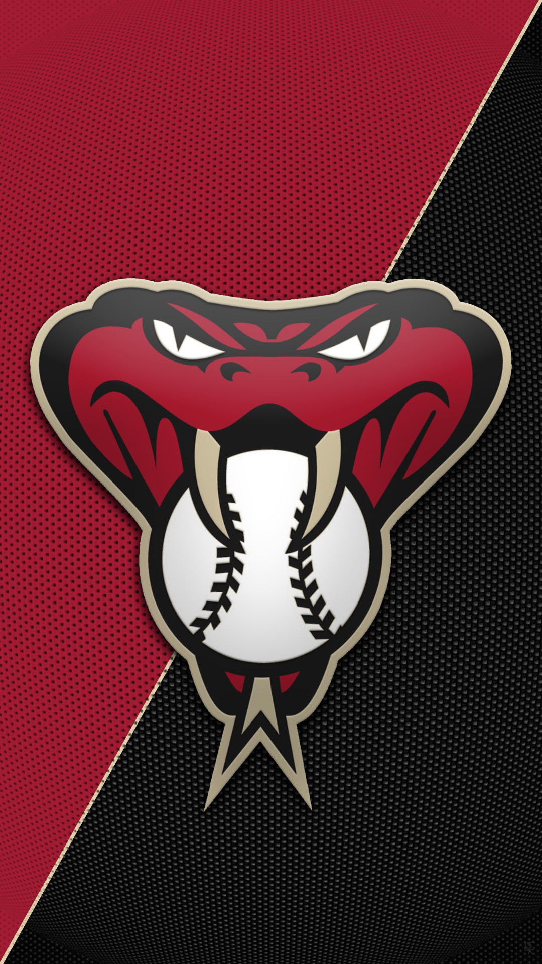 Hey Tigger can you make another Arizona Diamondbacks snakehead logo  wallpaper like you did before for me but in their old school colors of  copper/ teal …