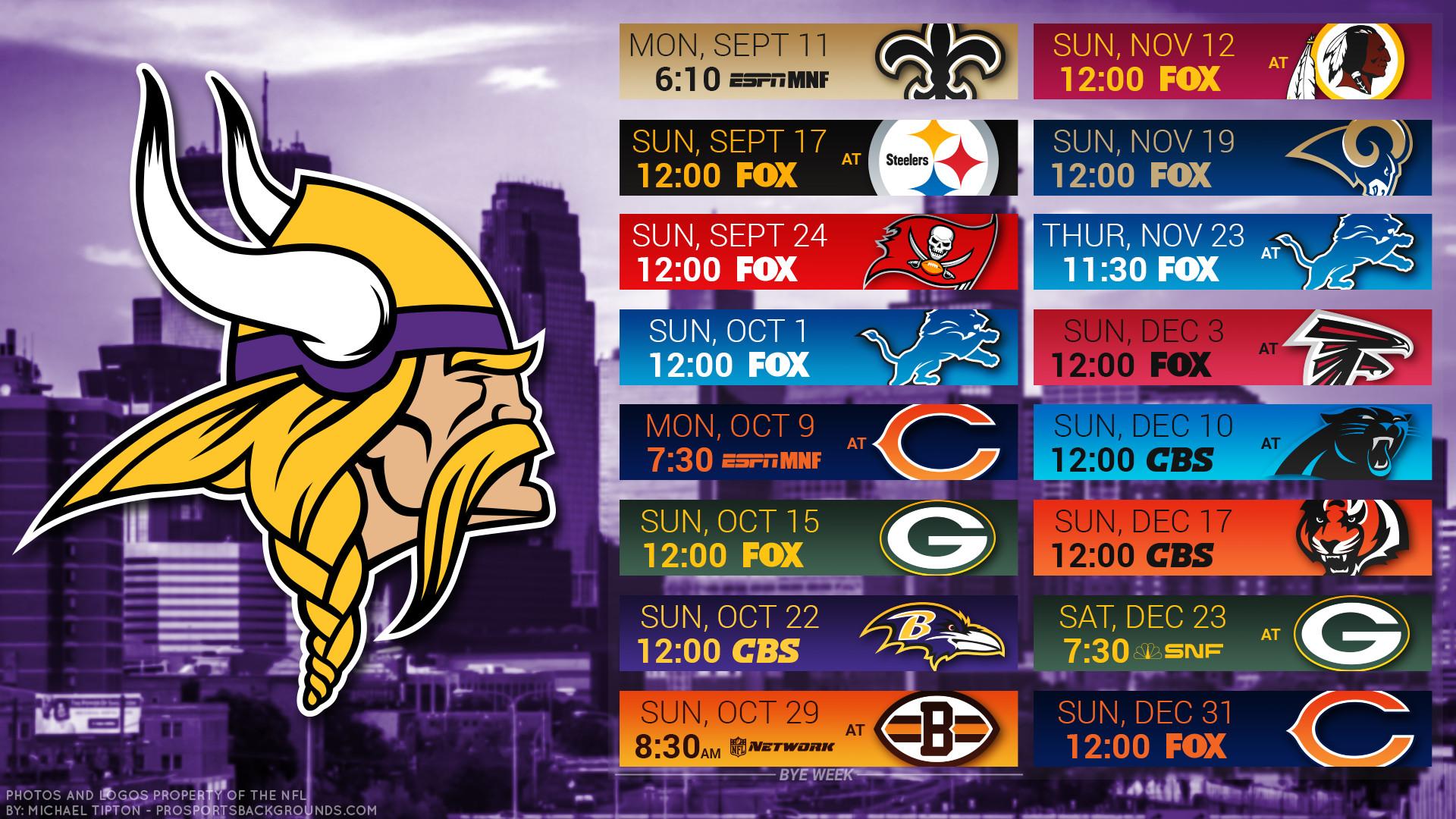 Minnesota Vikings 2017 schedule city football logo wallpaper free pc desktop  computer …