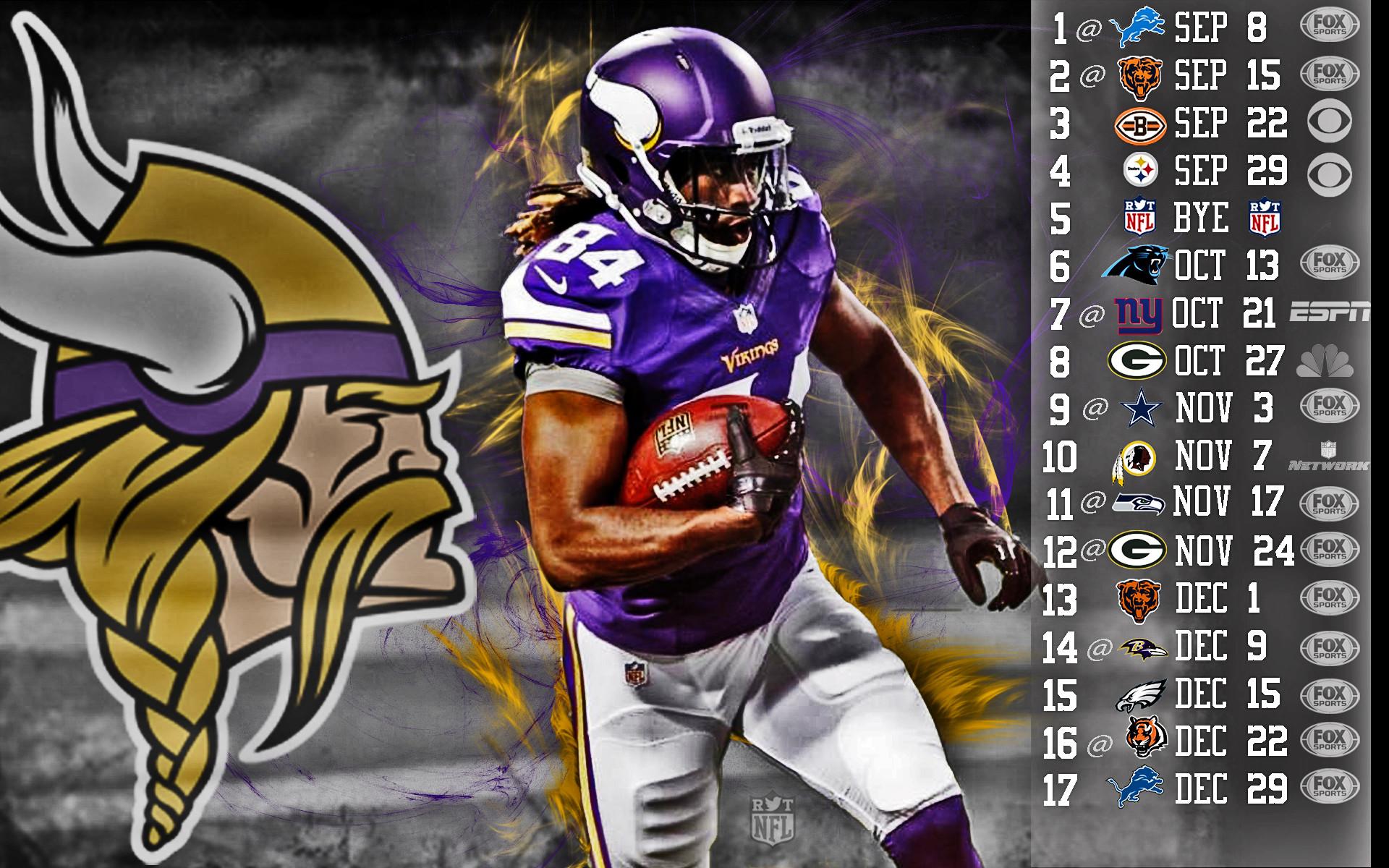 Vikings Cordarelle Patterson 2013 Schedule HDR