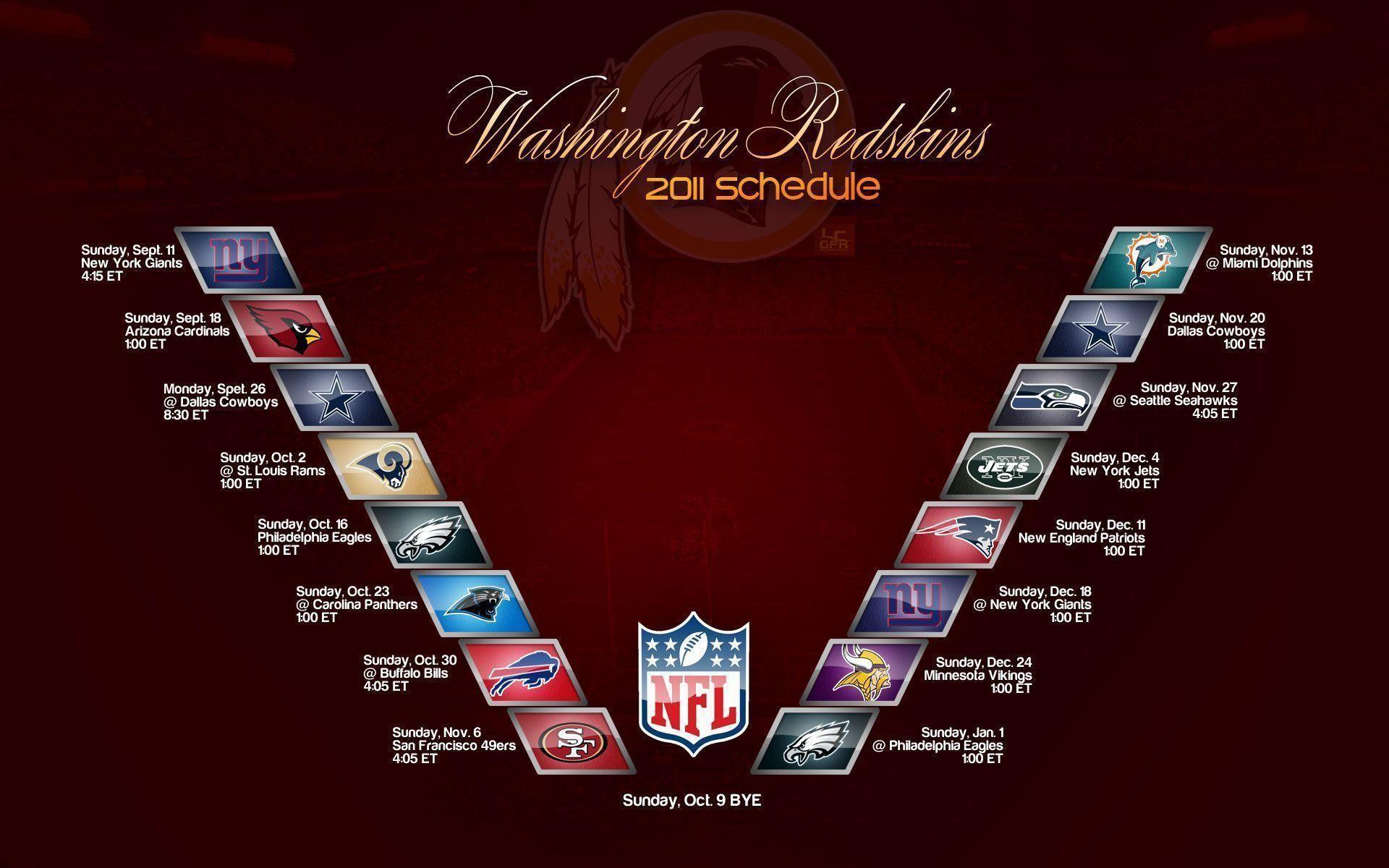 Redskins 2014 Schedule – Viewing Gallery