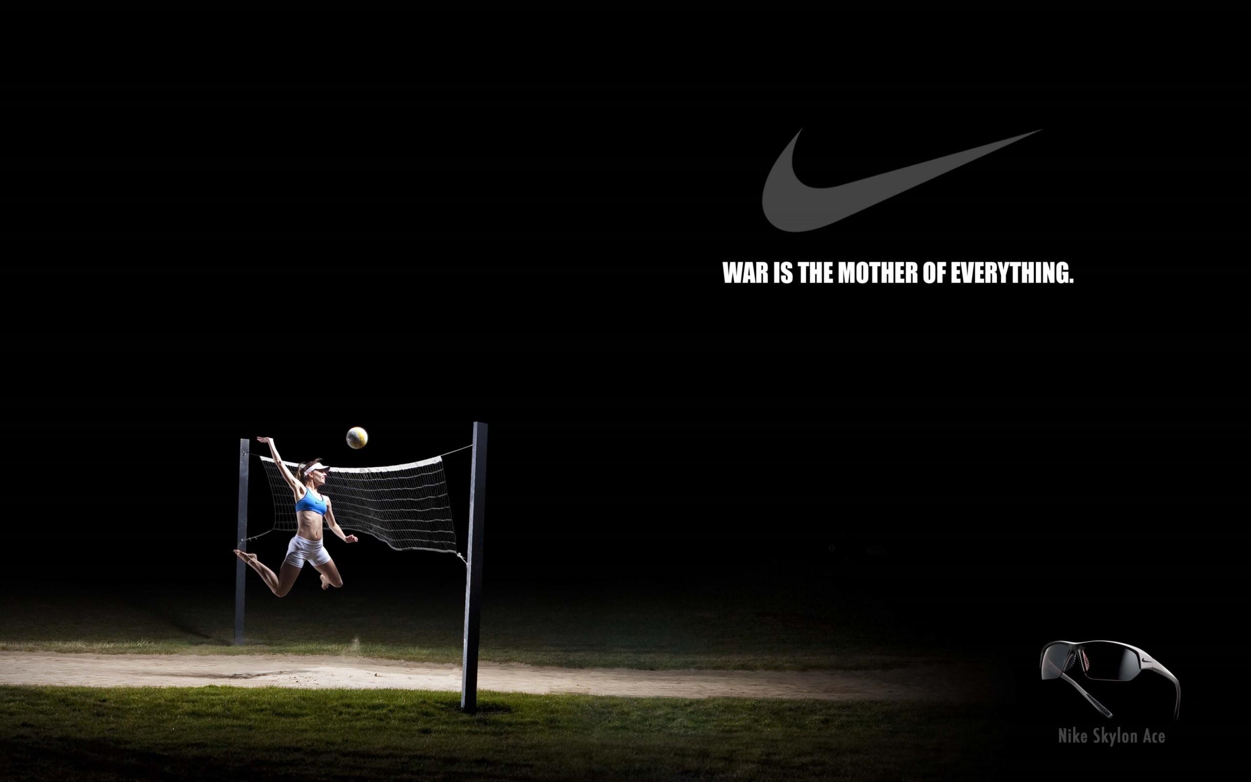 4K HD Wallpaper: Nike Creative Volleyball Poster