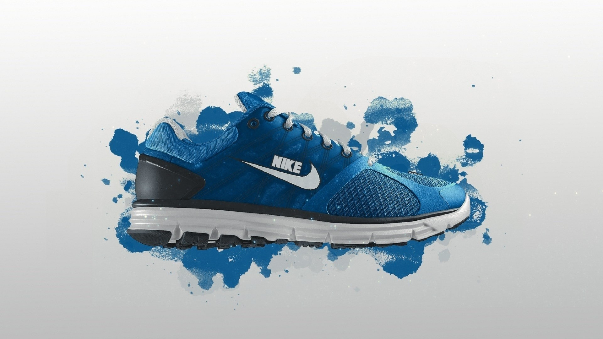 Preview wallpaper nike, shoes, sneakers, blue, sports, style 1920×1080