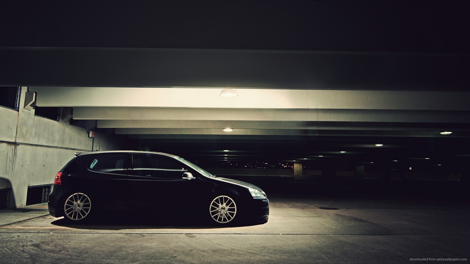 Black Volkswagen Golf Stance Sideview picture
