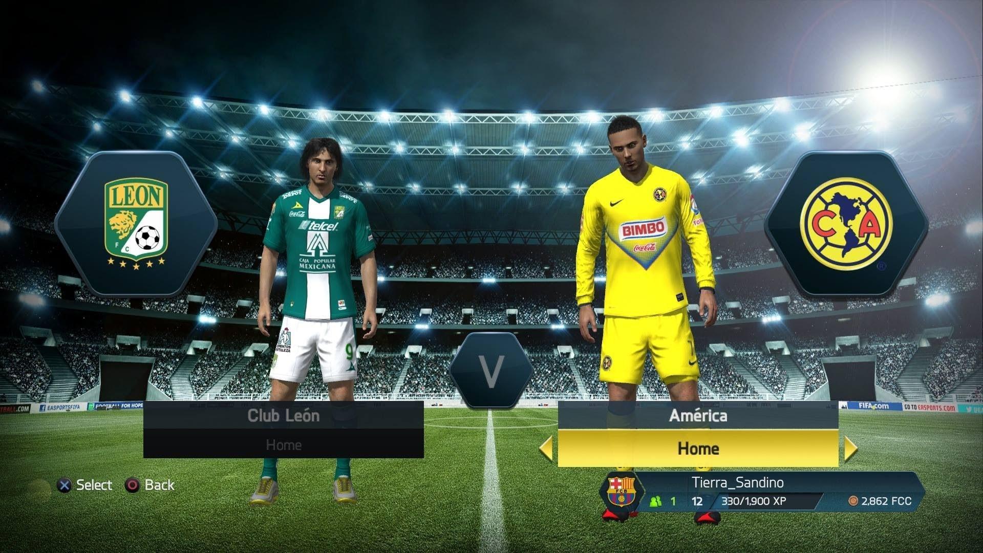 PS4 FIFA 14 Modo Carrera Jugador Lucas Rayo EP9 America vs Club Leon