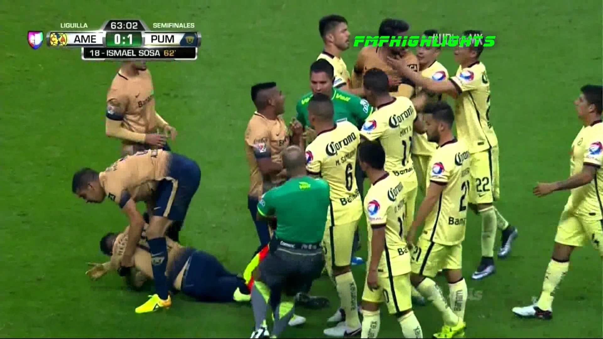 Club America VS Pumas 0-3 Dec 3, 2015 Full Highlights HD 60FPS – YouTube