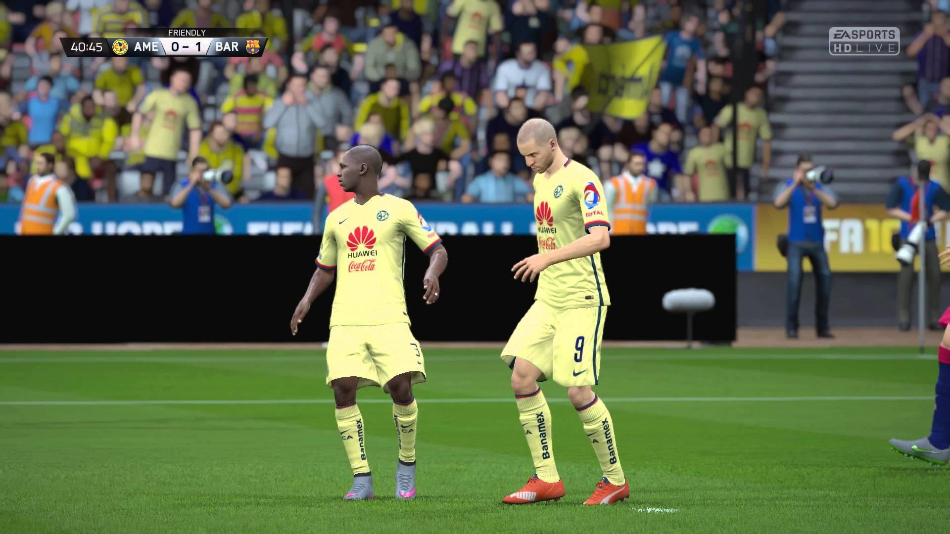 FIFA 16 – Club America vs. FC Barcelona Gameplay [1080p / 60 FPS]