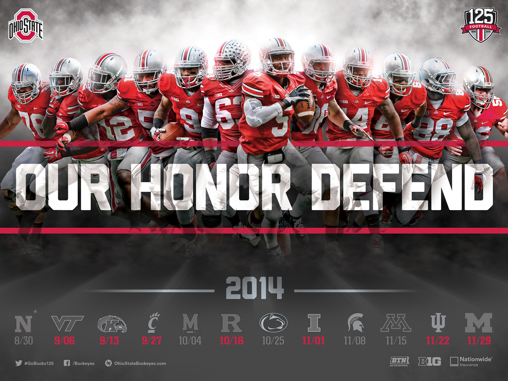 Download The Ohio State Football 2014 Schedule Poster for Printing and Desktop  Wallpaper