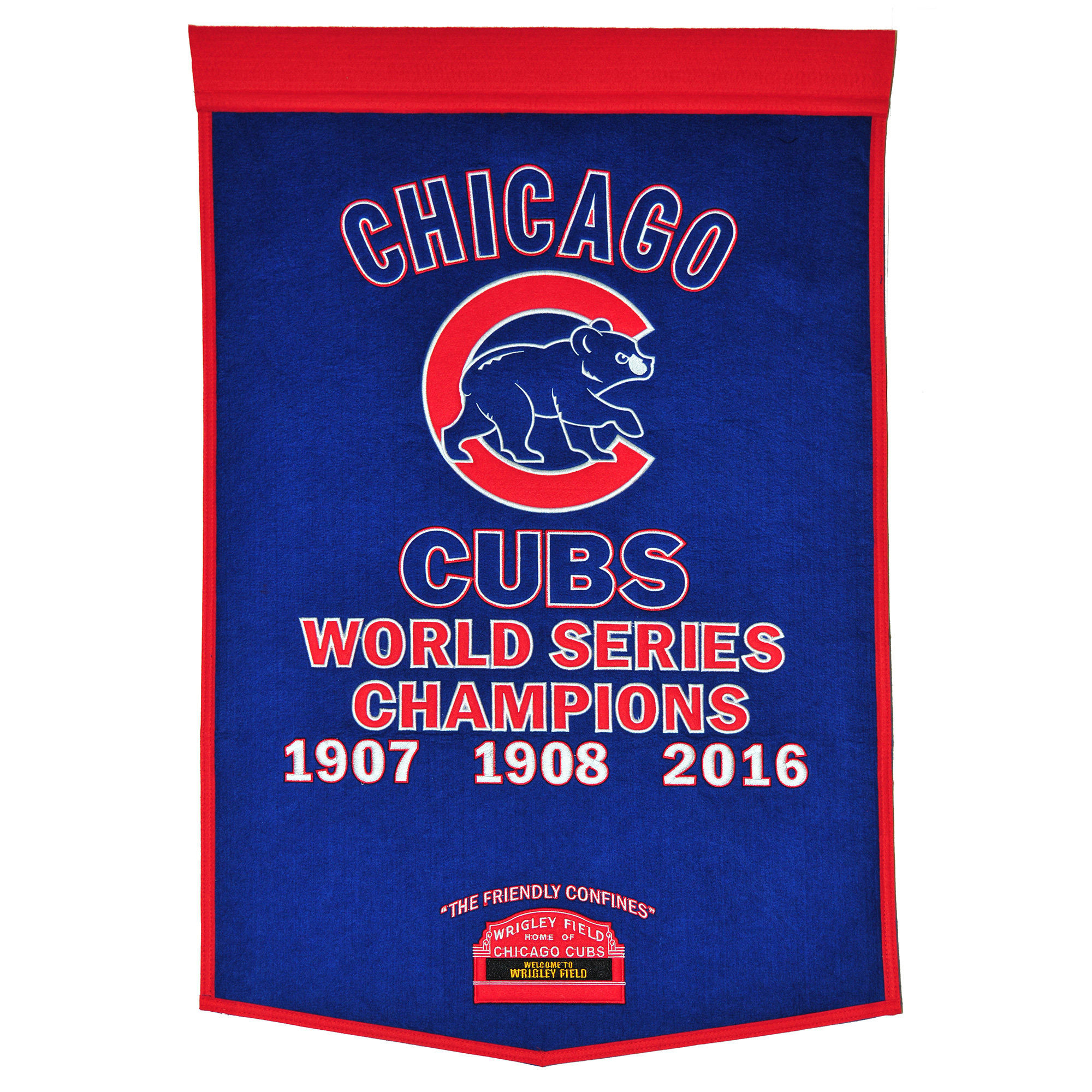 """Chicago Cubs 2016 World Series Champions 24"""" x 38"""" Dynasty Banner"""