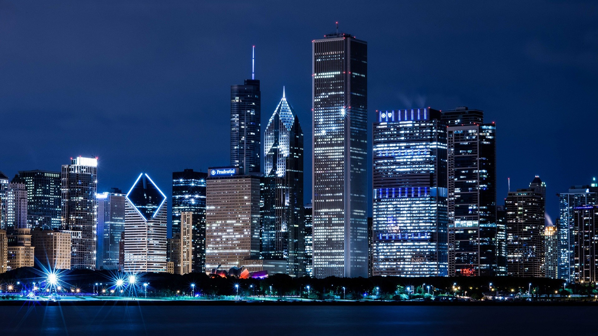 Ultra HD chicago twilight | Ultra HD World Place Wallpapers | Pinterest |  Chicago