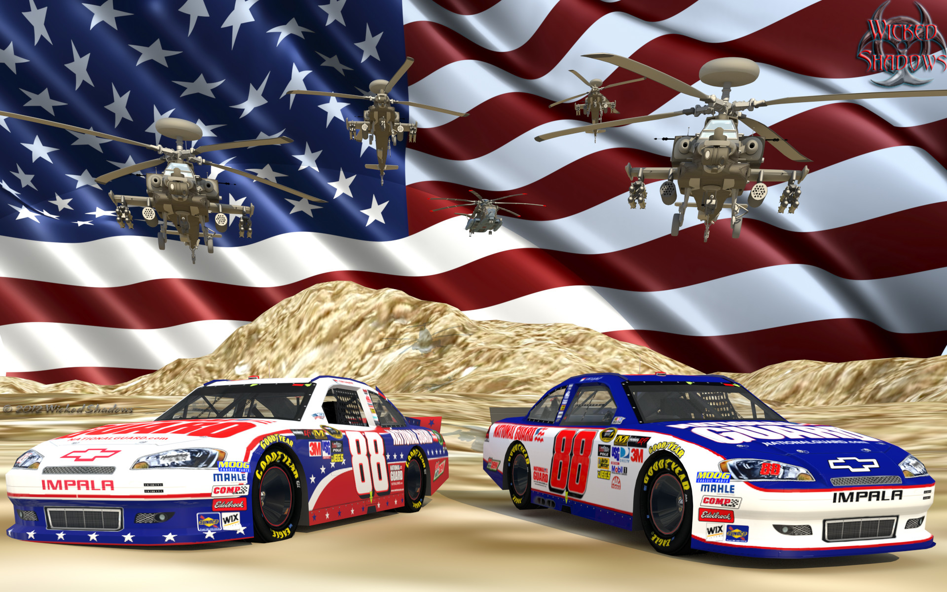 Wallpapers By Wicked Shadows: Dale Earnhardt Jr. Nascar Unites .