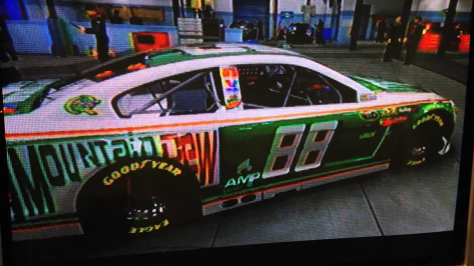 NASCAR '14 Custom Classics: Dale Jr 2008 Mountain Dew Throwback Car