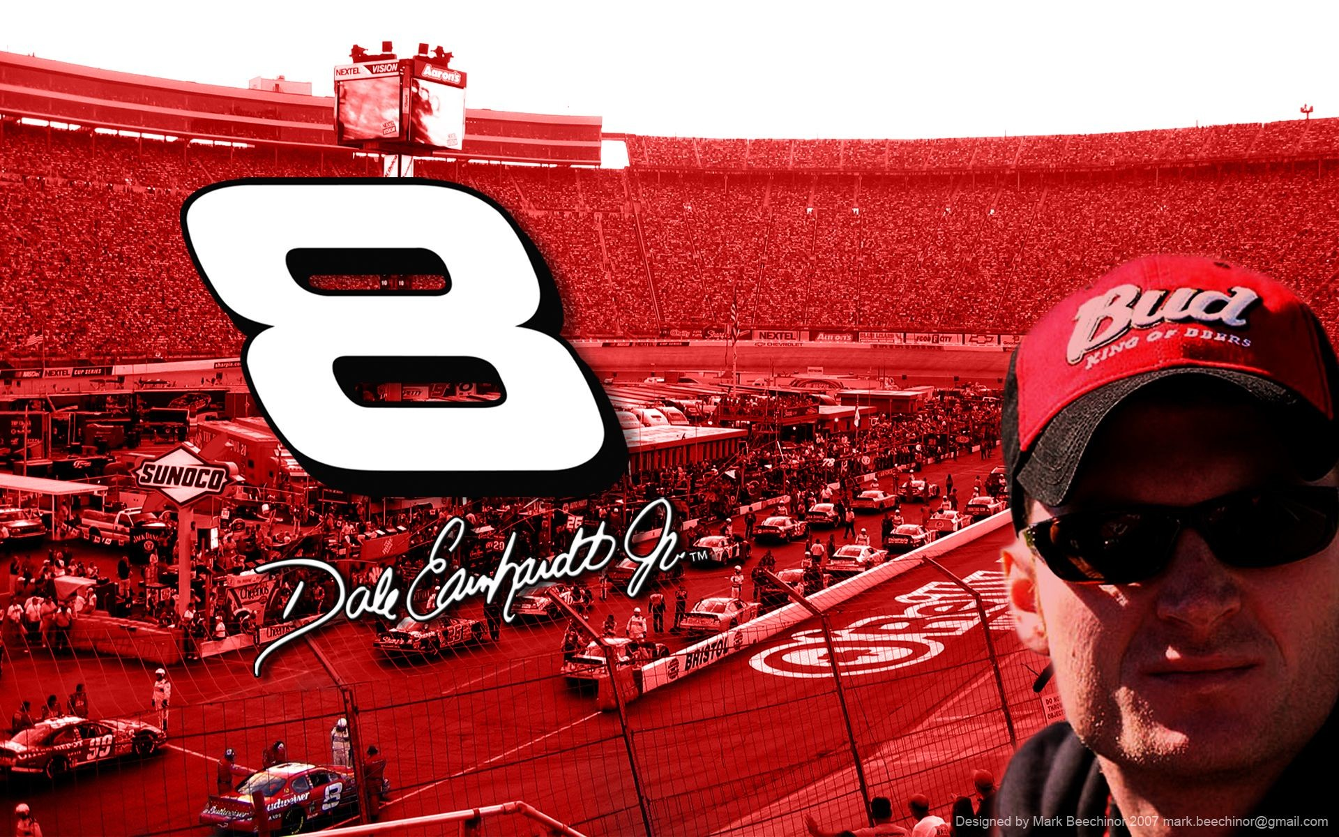 Dale Earnhardt Jr. at Bristol by DJShamrock on DeviantArt