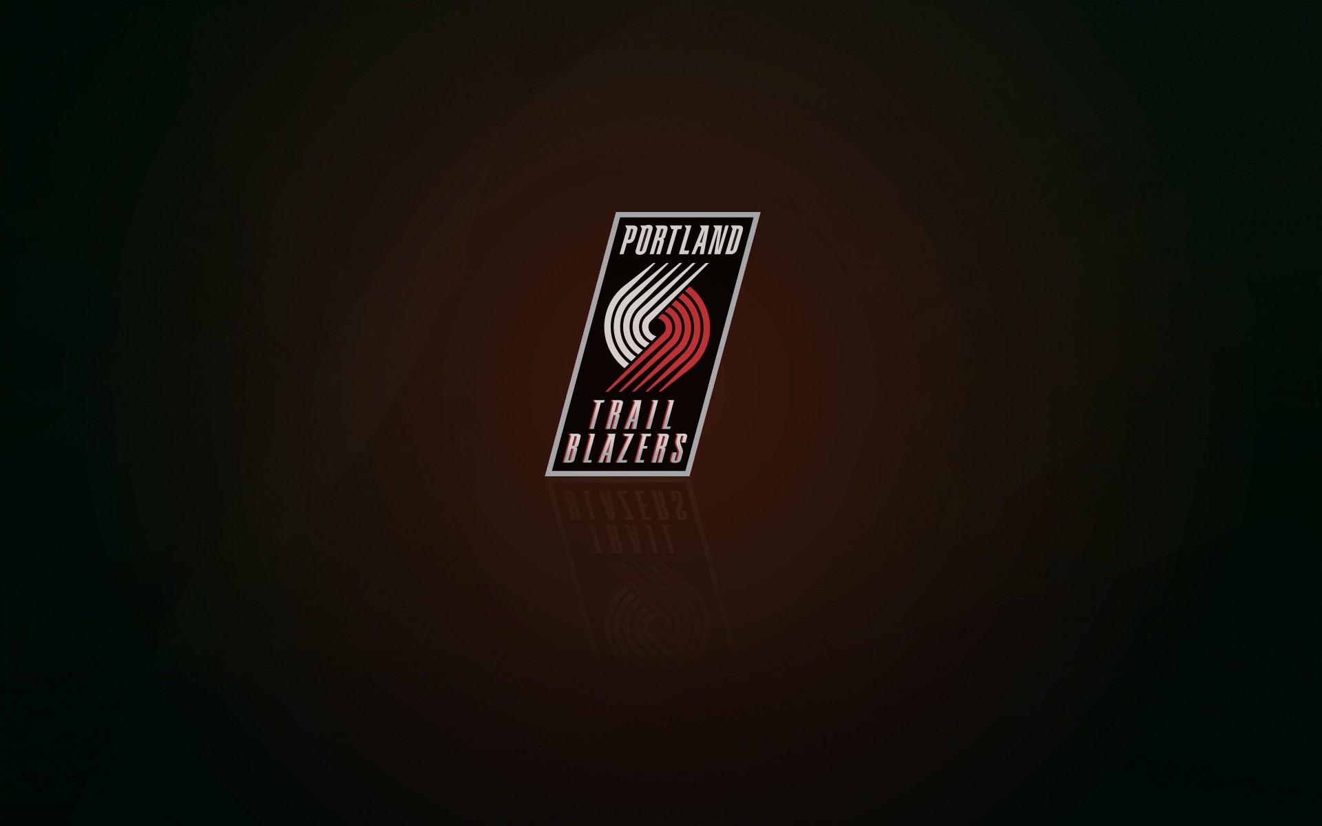 Portland Trail Blazers wallpaper and logo with shadow, widescreen  1920x1200px, 16×10