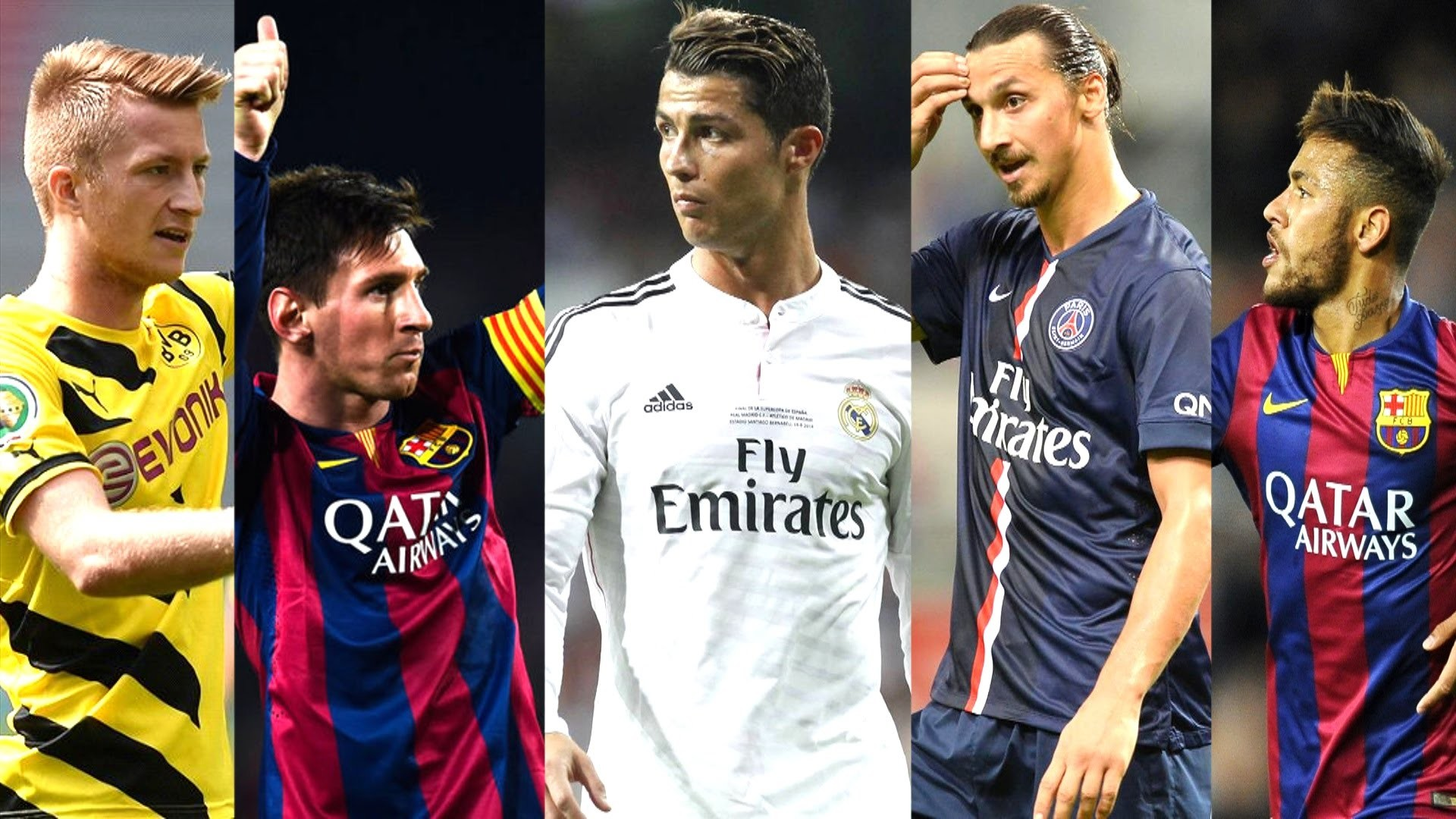 Best Football Skill Show 2015 ○ Ronaldo ○ Messi ○ Neymar ○ Bale ○ Robben ○  Ibrahimovic ○ HD